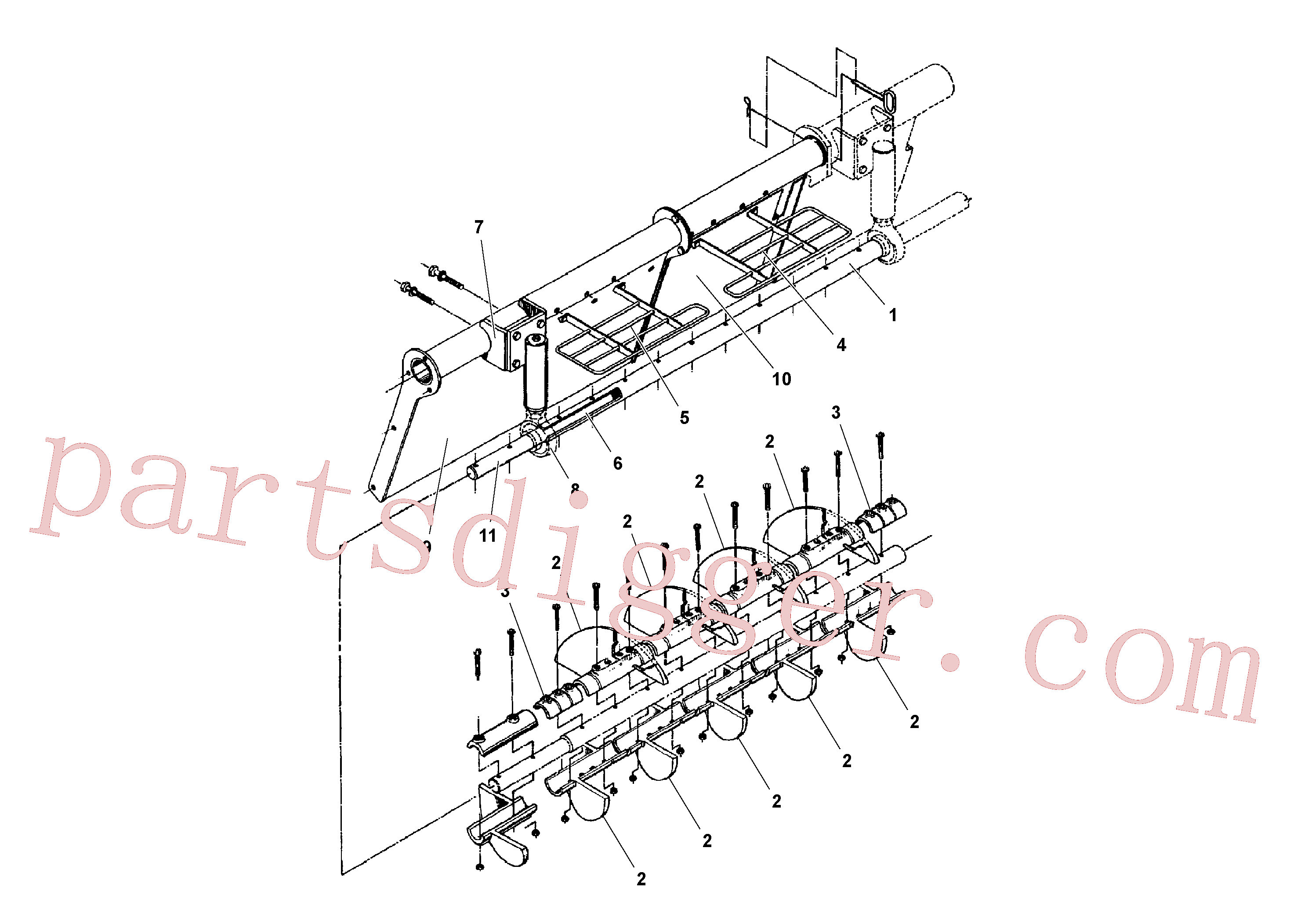 RM20241741 for Volvo Auger and Tunnel / Guard Arrangement(1041143 assembly)
