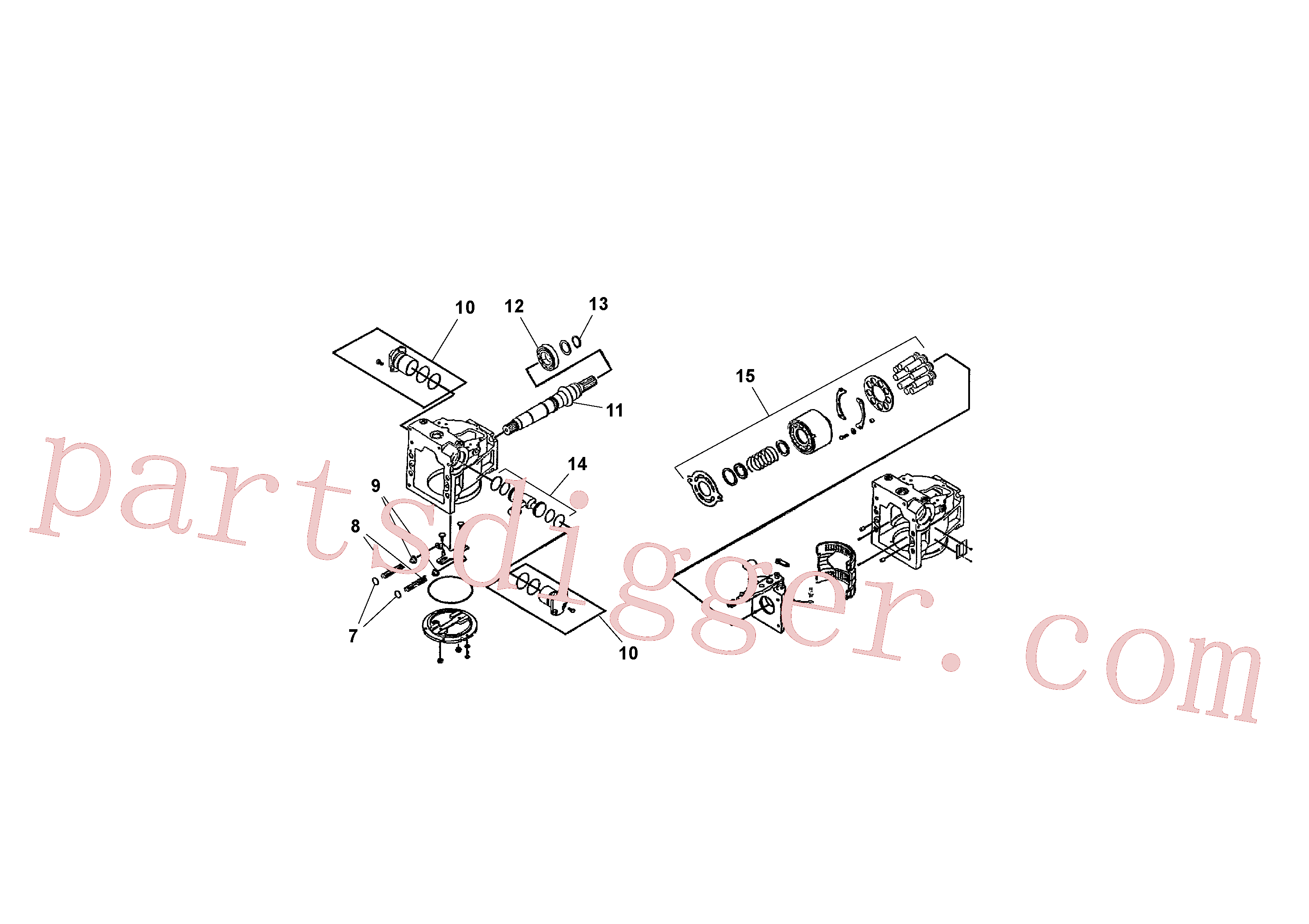 RM13792981 for Volvo Traction Drive Pump Assembly(1041388 assembly)
