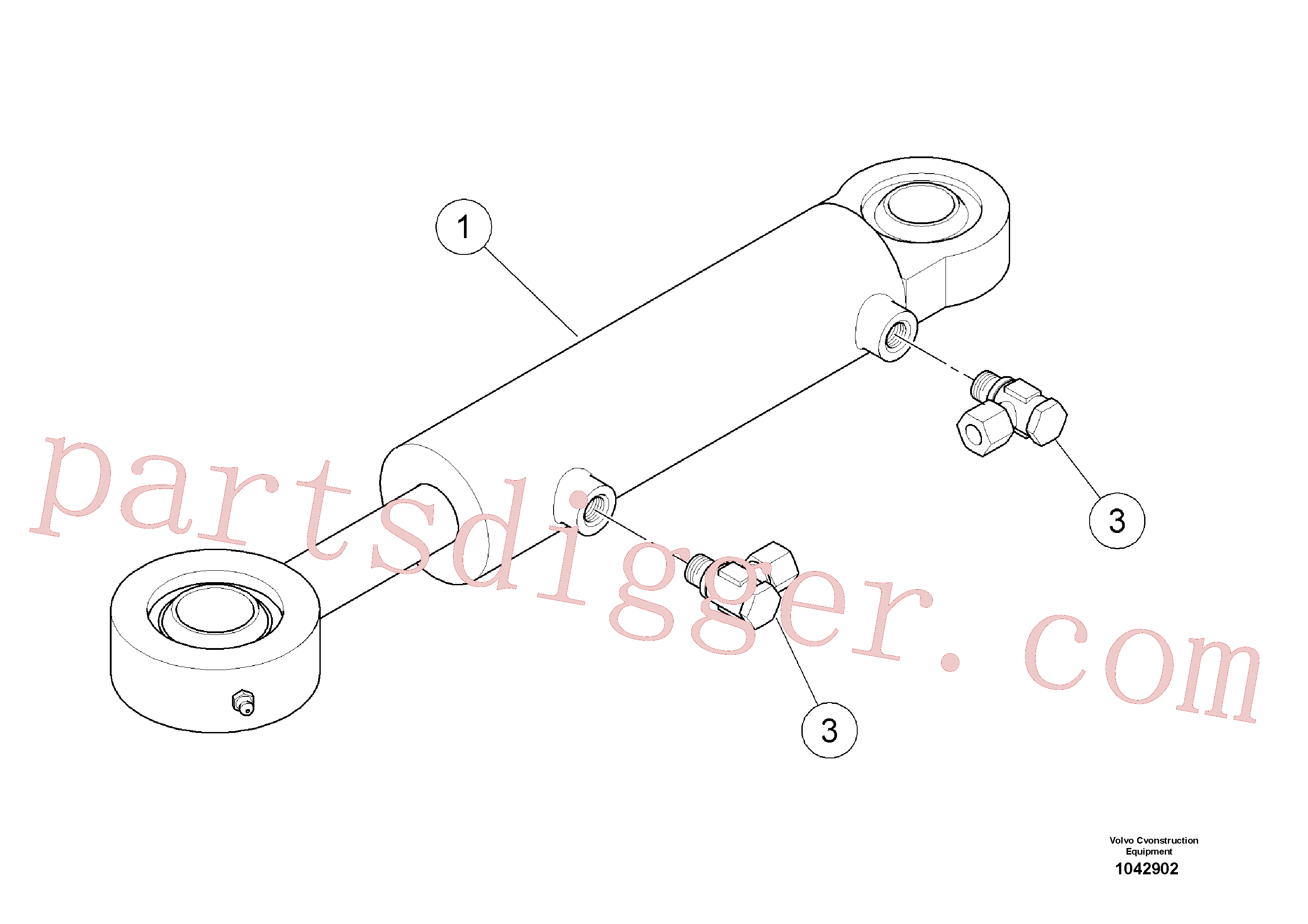 RM13927470 for Volvo Steering cylinder(1042902 assembly)