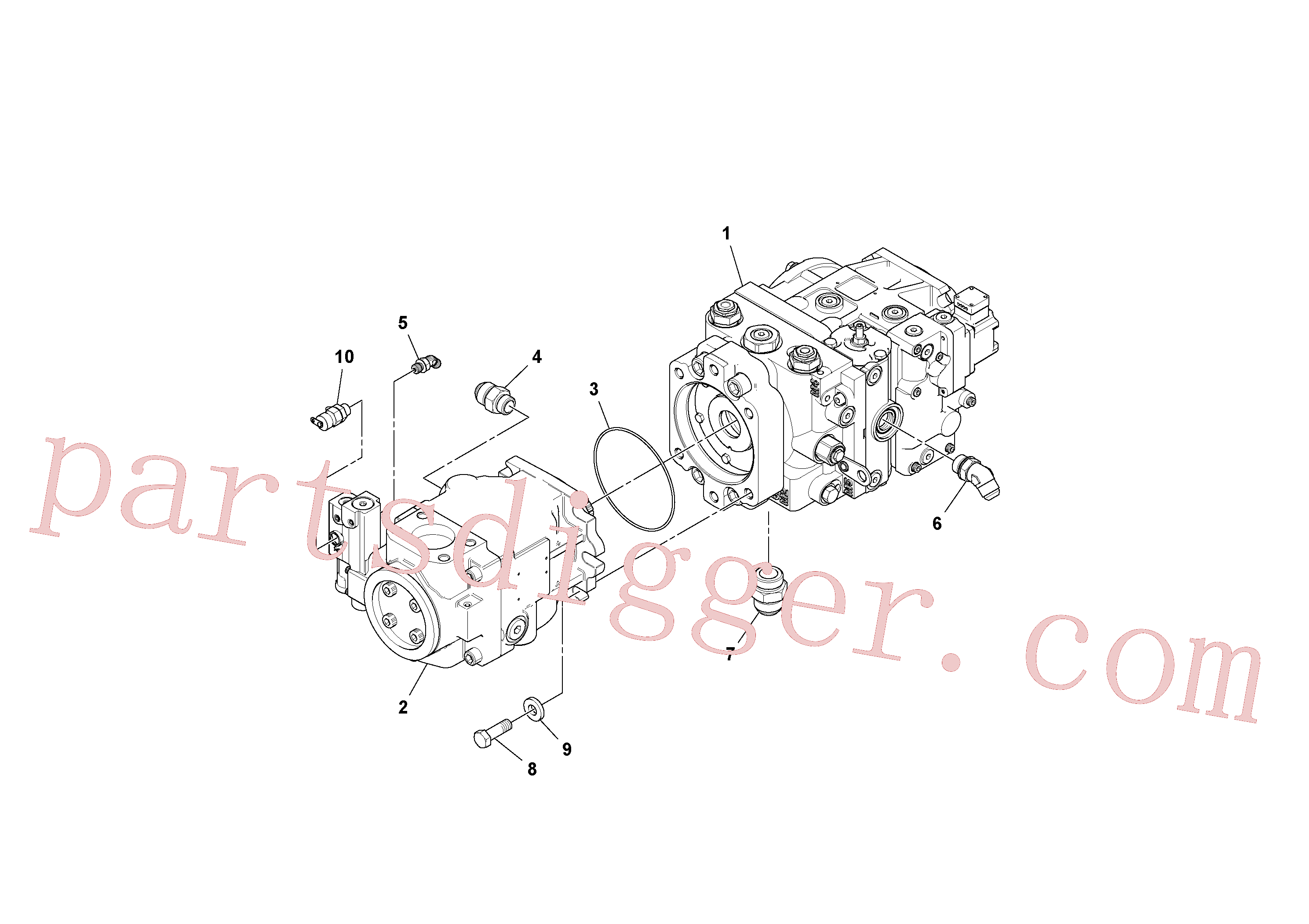 RM95329983 for Volvo Propulsion/Conveyor Pump Assembly(1044078 assembly)