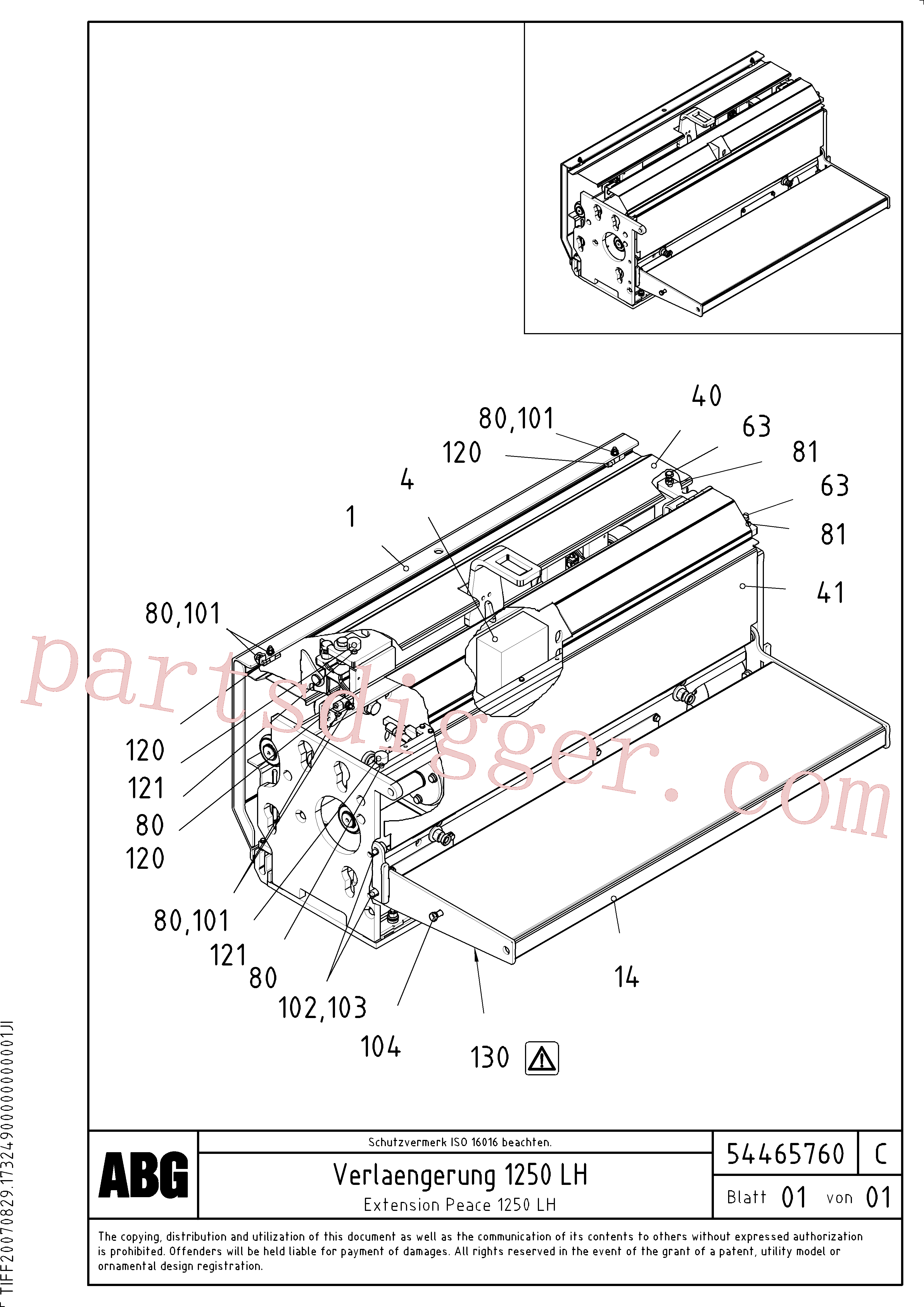 RM14075030 for Volvo Extension(1046626 assembly)