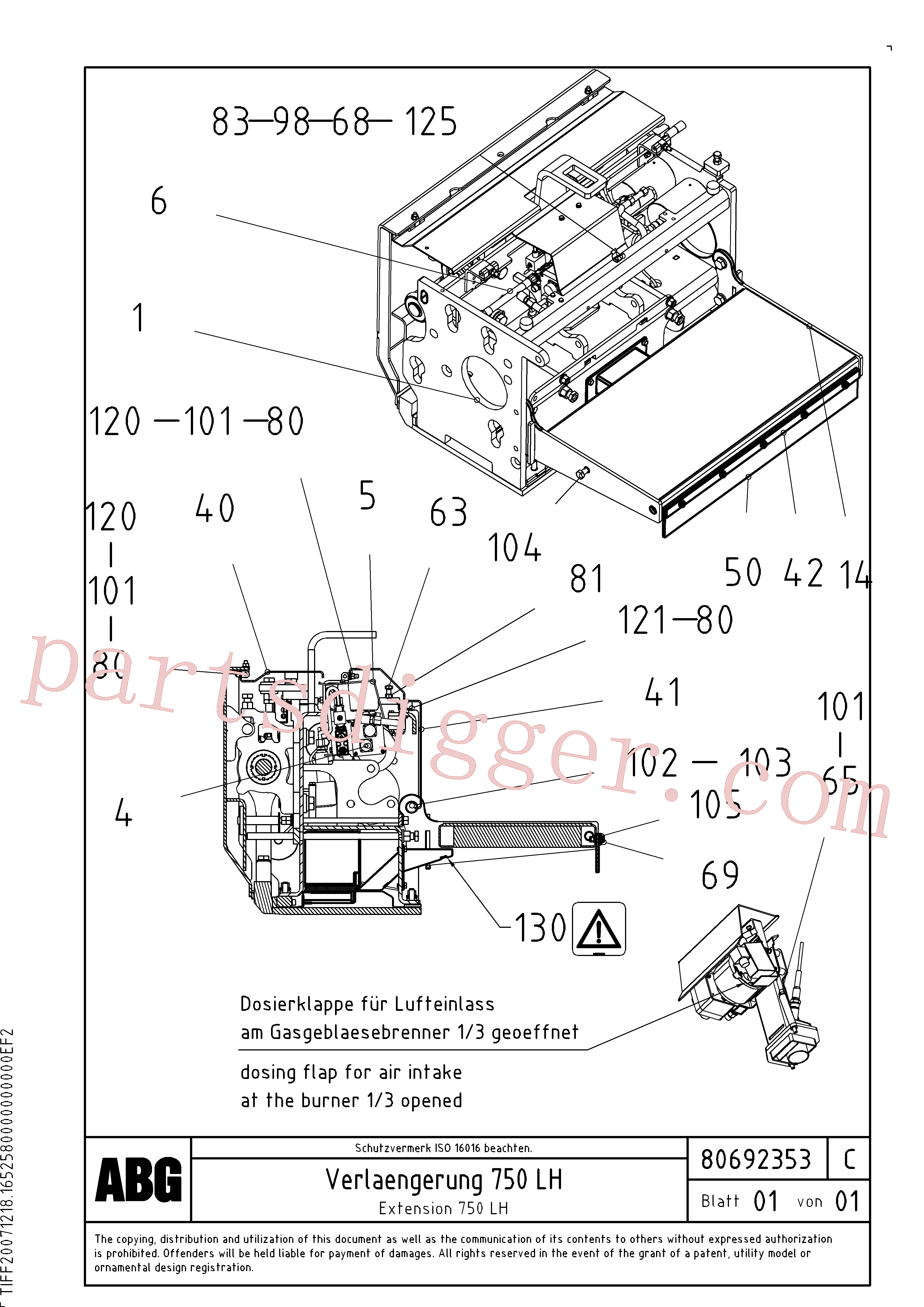 RM80734312 for Volvo Extension(1047133 assembly)
