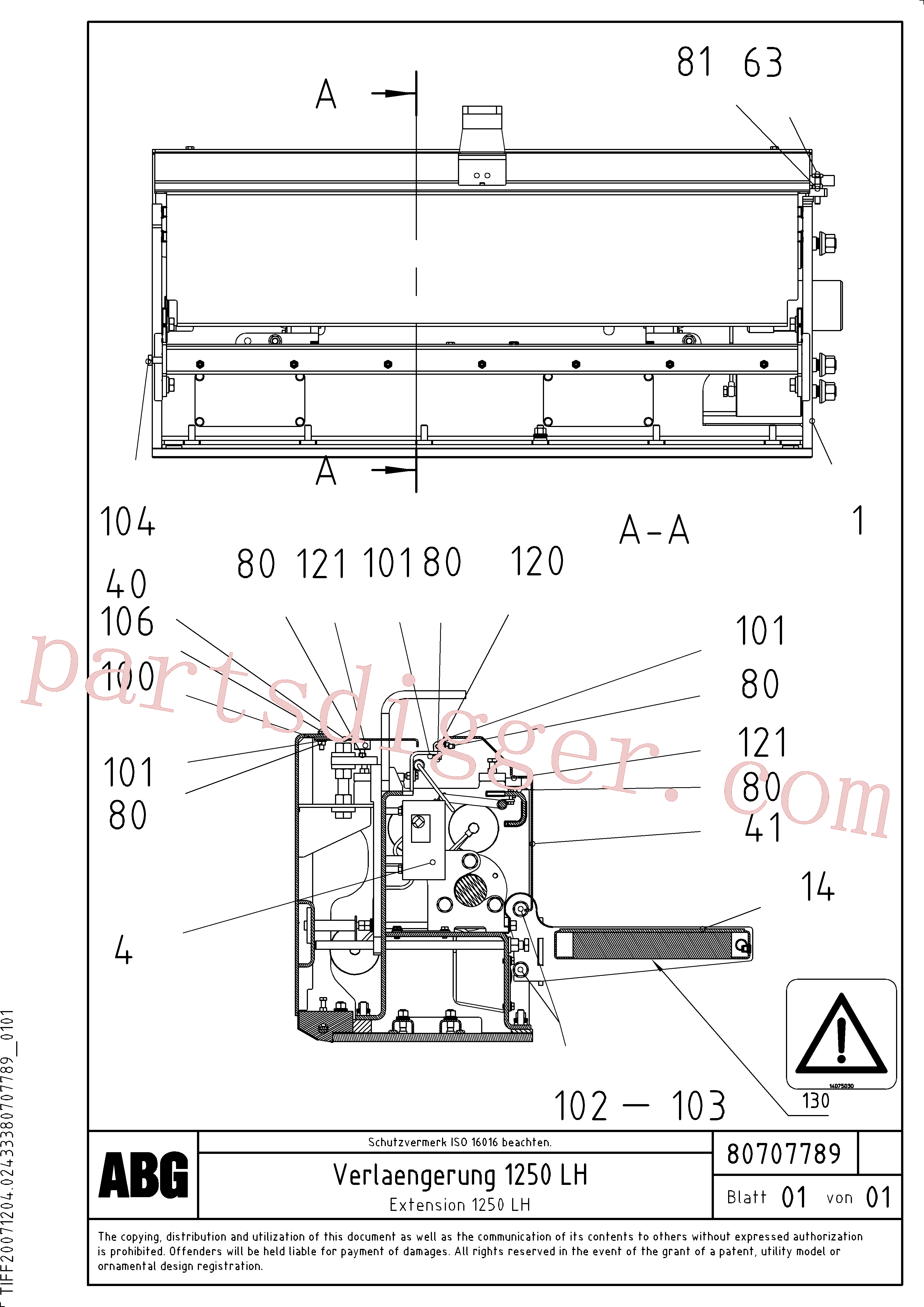 RM14075030 for Volvo Extension(1047306 assembly)