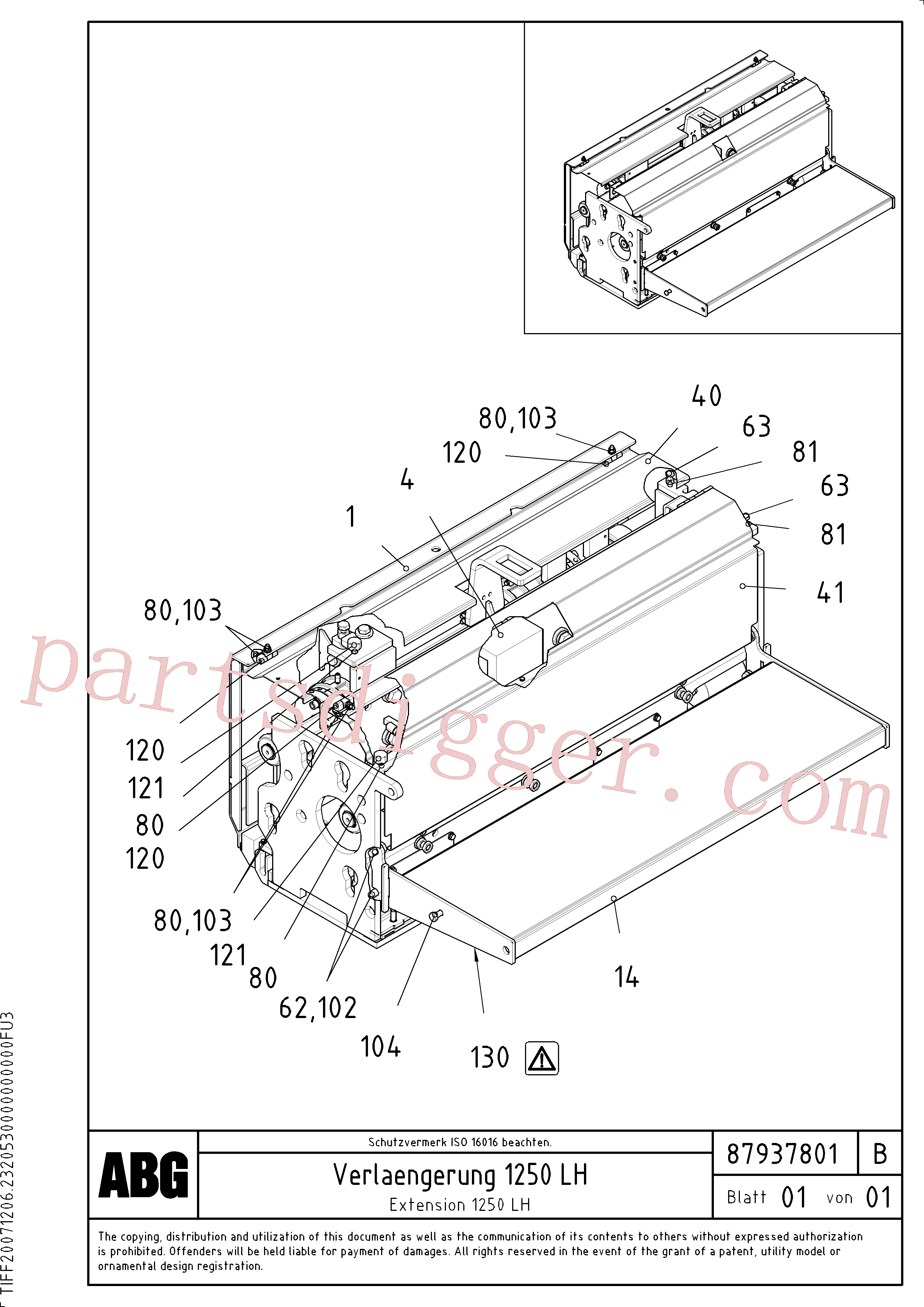 RM96715081 for Volvo Extension(1047907 assembly)