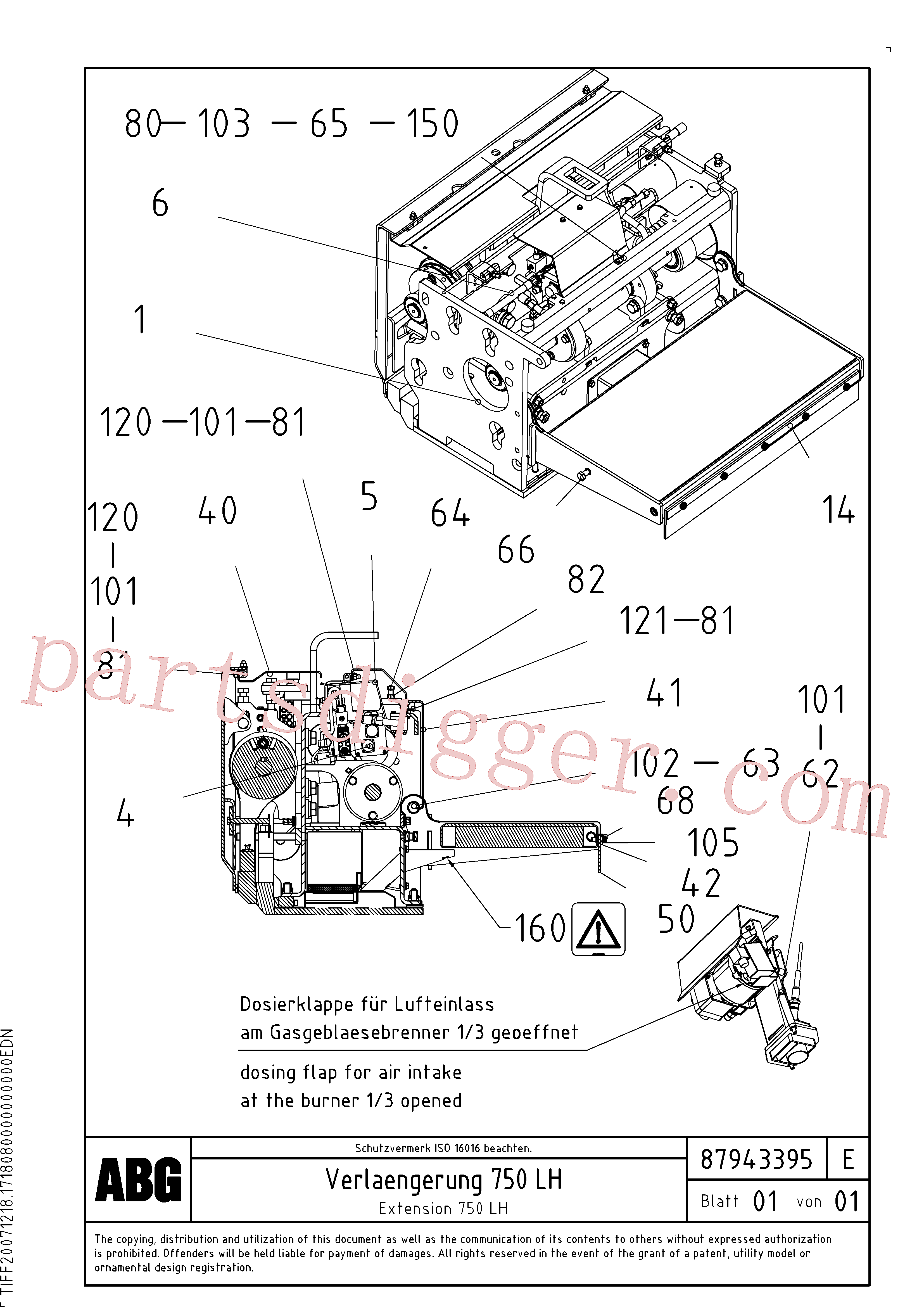 RM80734312 for Volvo Extension, Extension screed(1047977 assembly)
