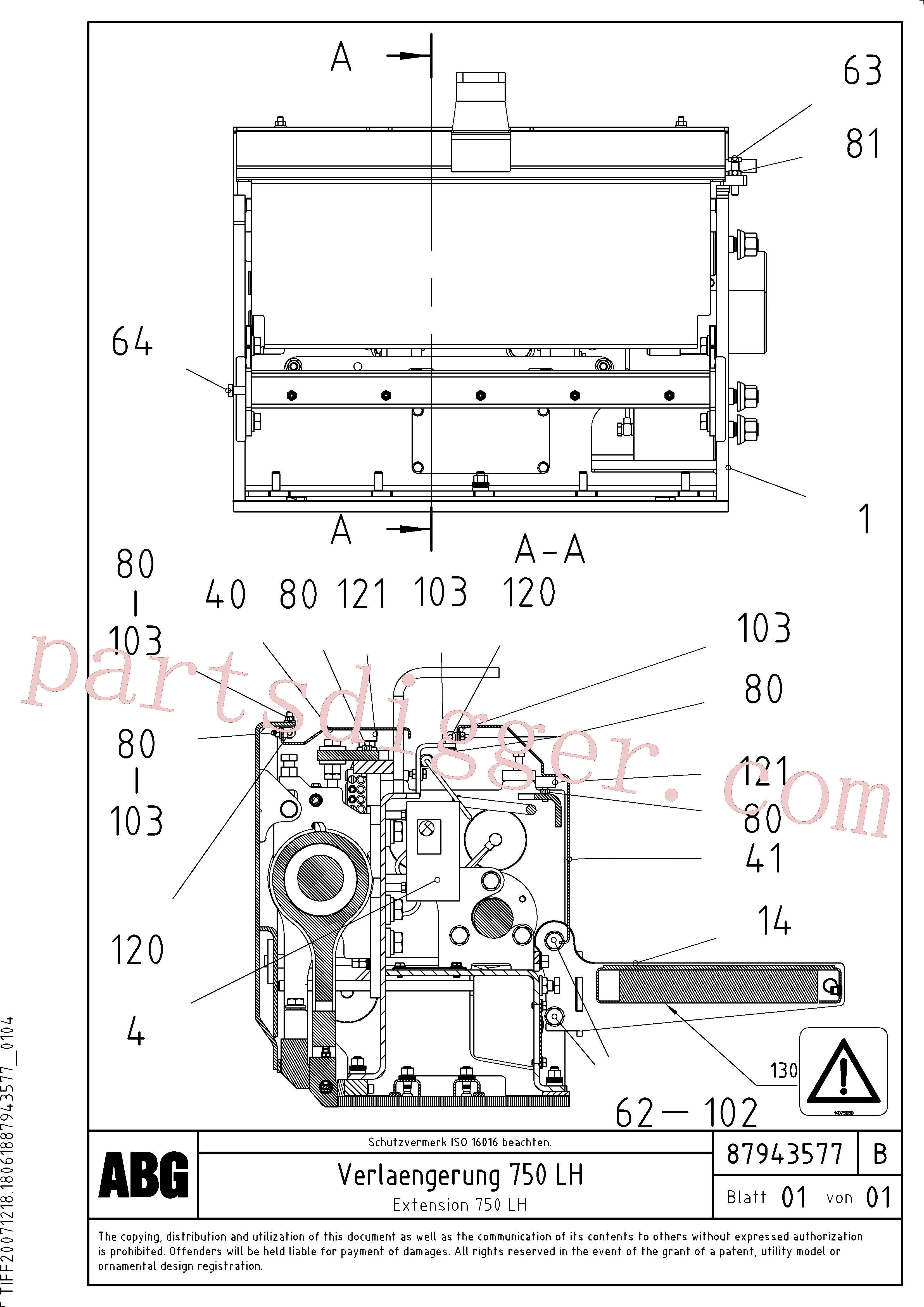 RM14075030 for Volvo Extension(1047987 assembly)