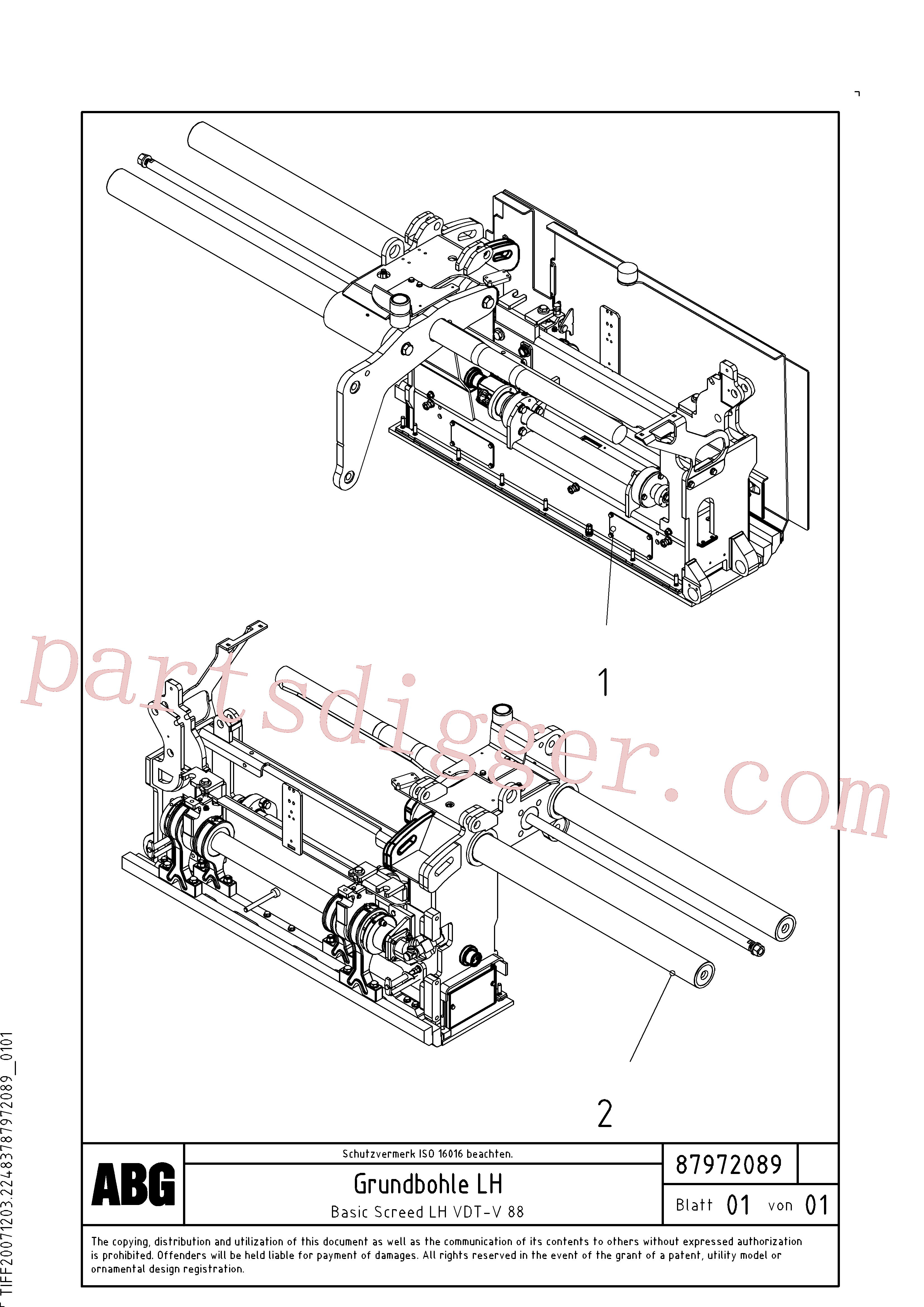 RM96711189 for Volvo Basic screed(1048165 assembly)