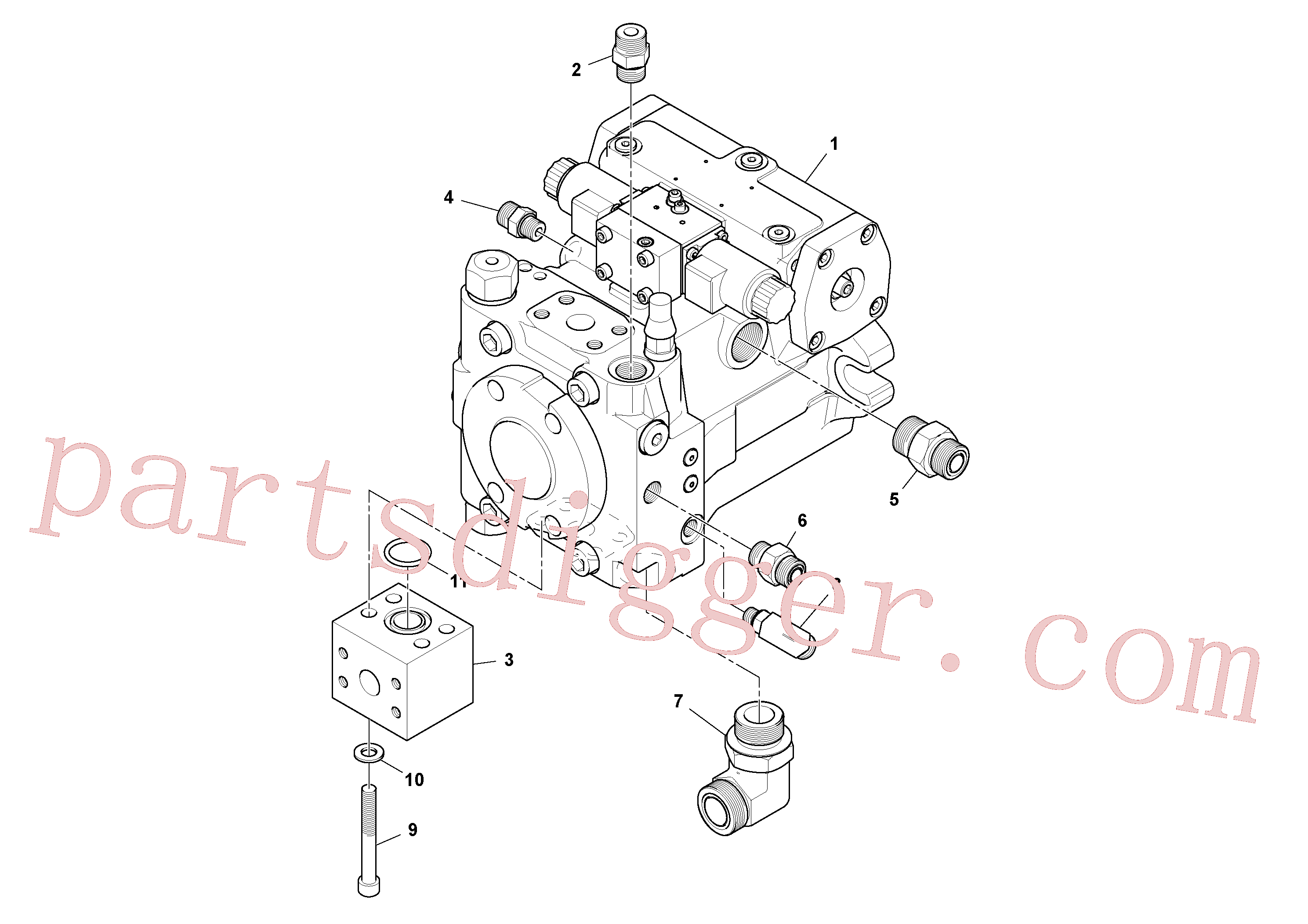 RM59419614 for Volvo Propulsion Pump Assembly(1048406 assembly)