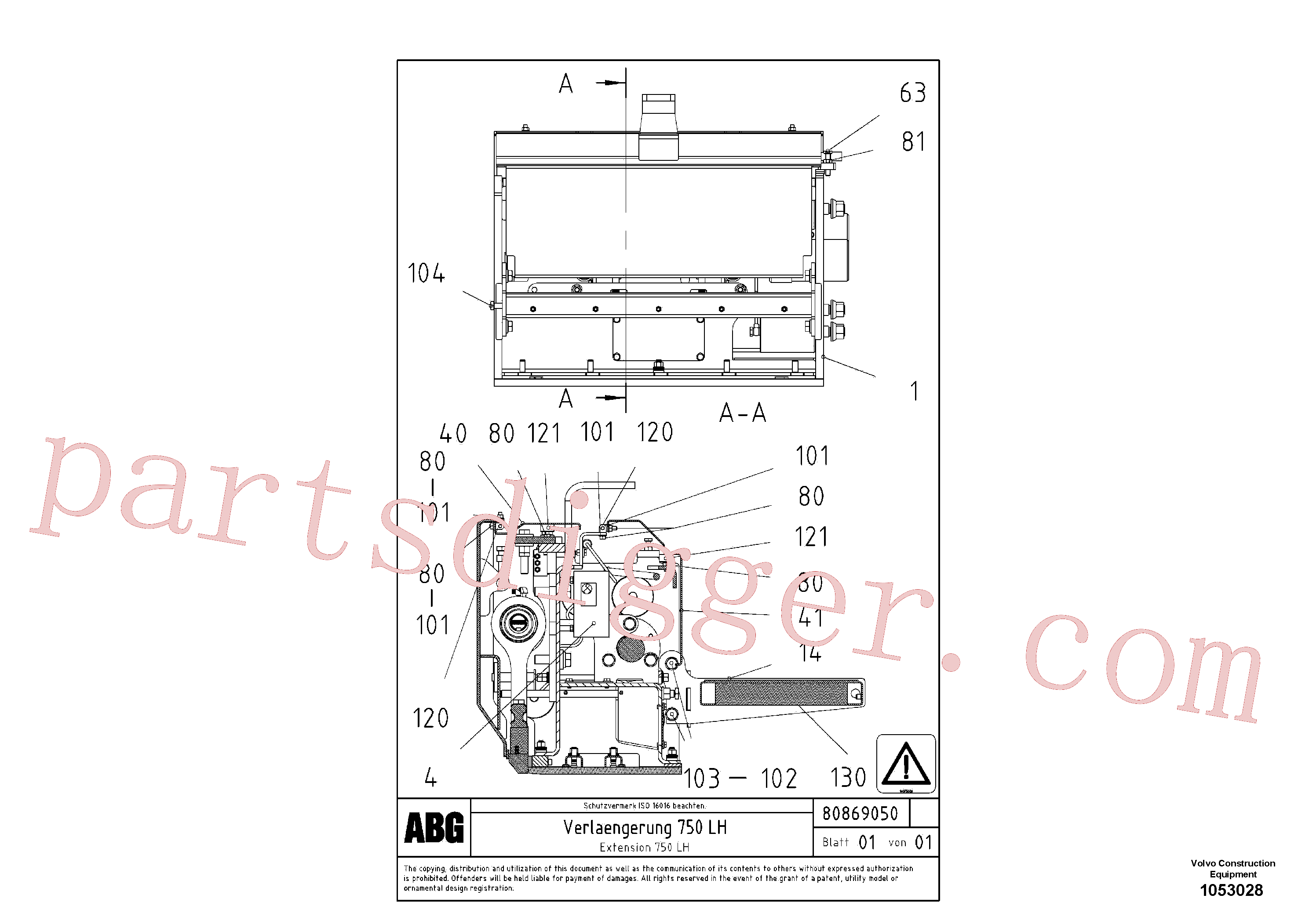 RM14075030 for Volvo Extension, Extension set(1053028 assembly)