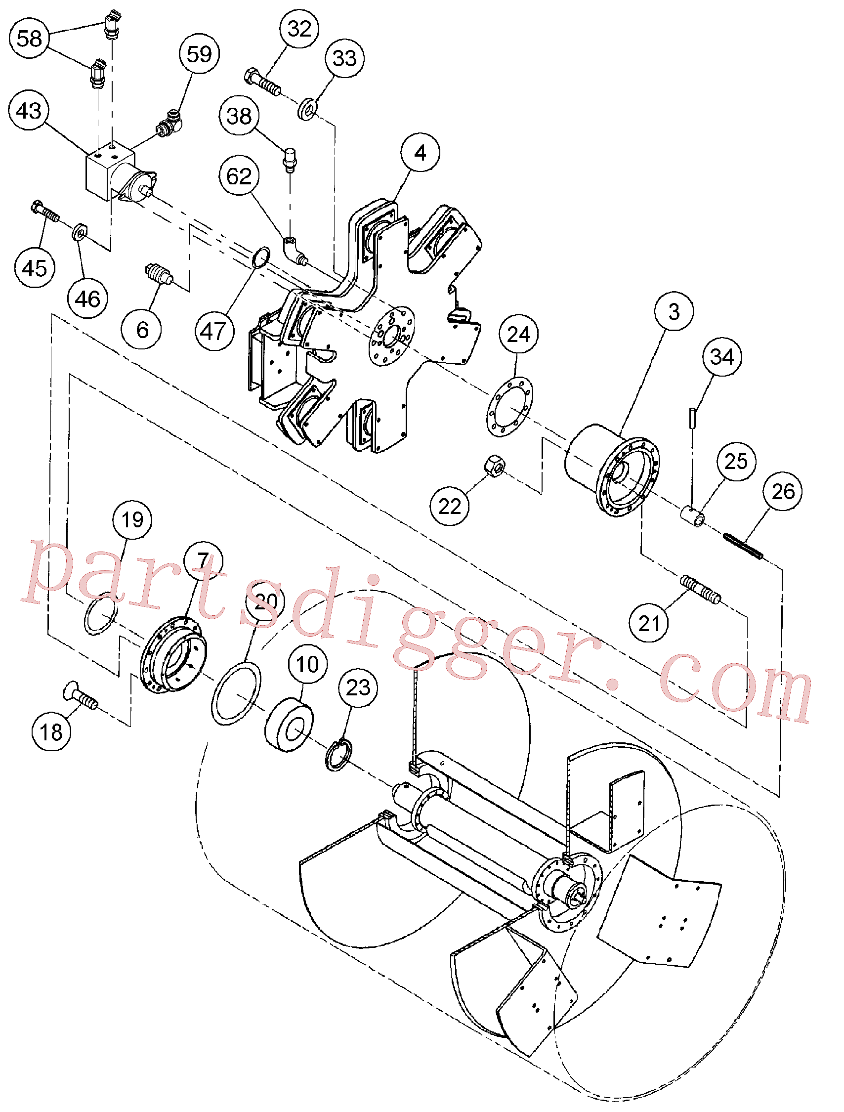 VOE983720 for Volvo Drum Assembly(1055849 assembly)