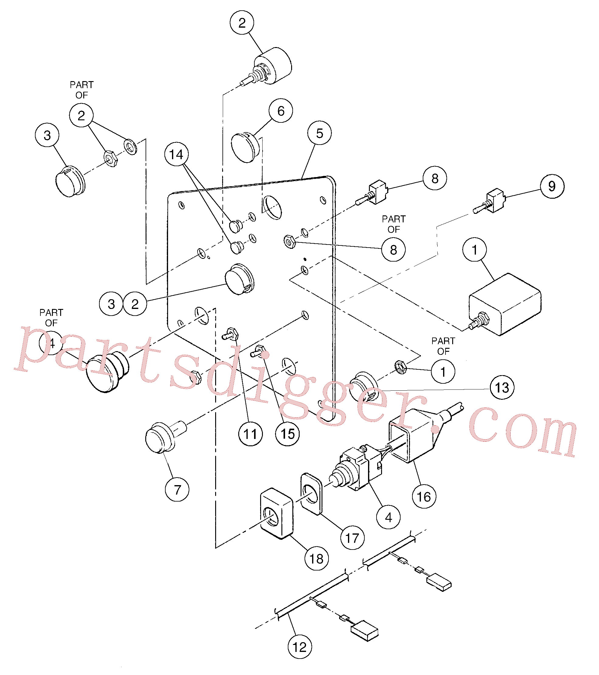 RM59108605 for Volvo Switch panel(1055873 assembly)