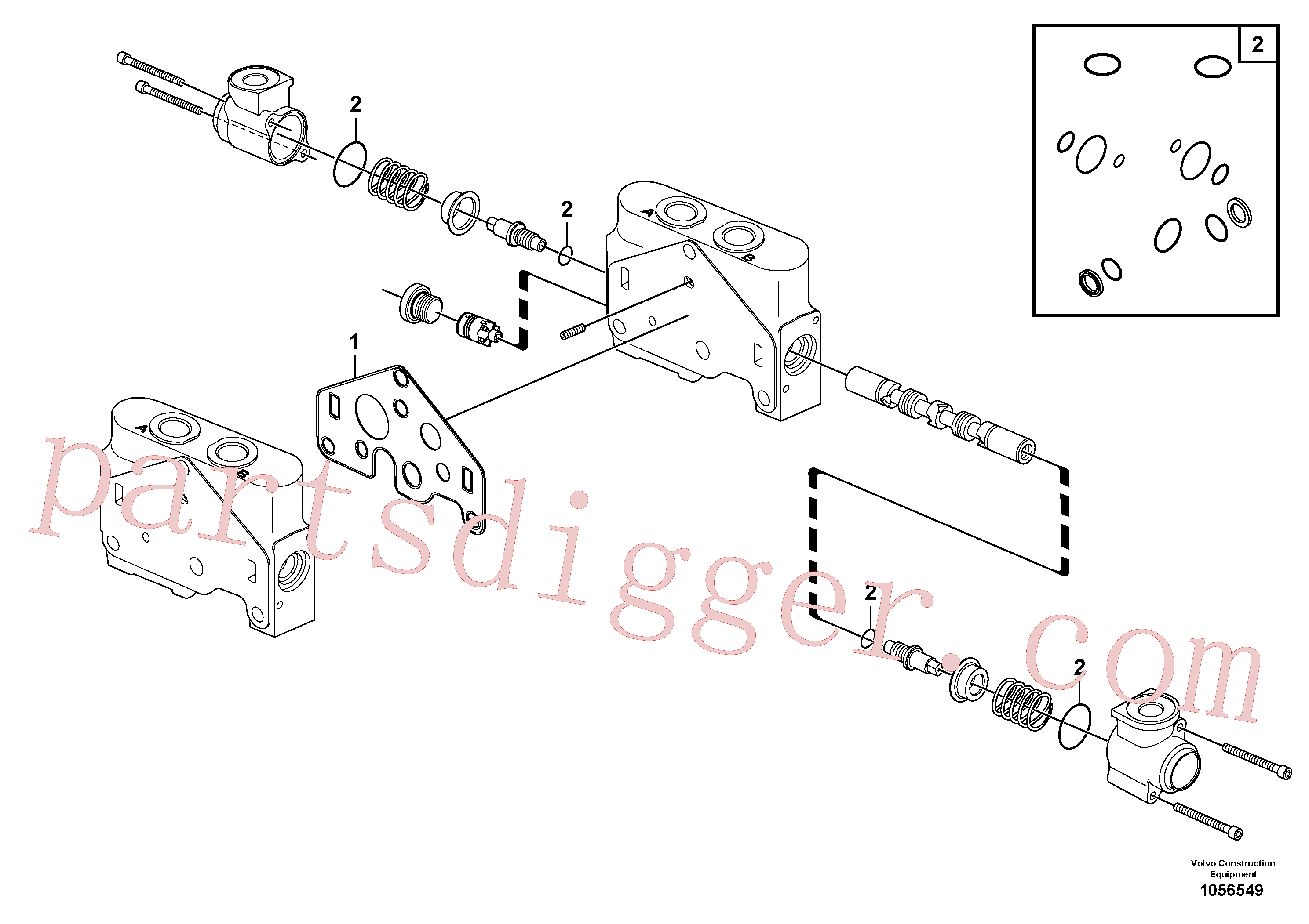VOE15182880 for Volvo Valve section(1056549 assembly)