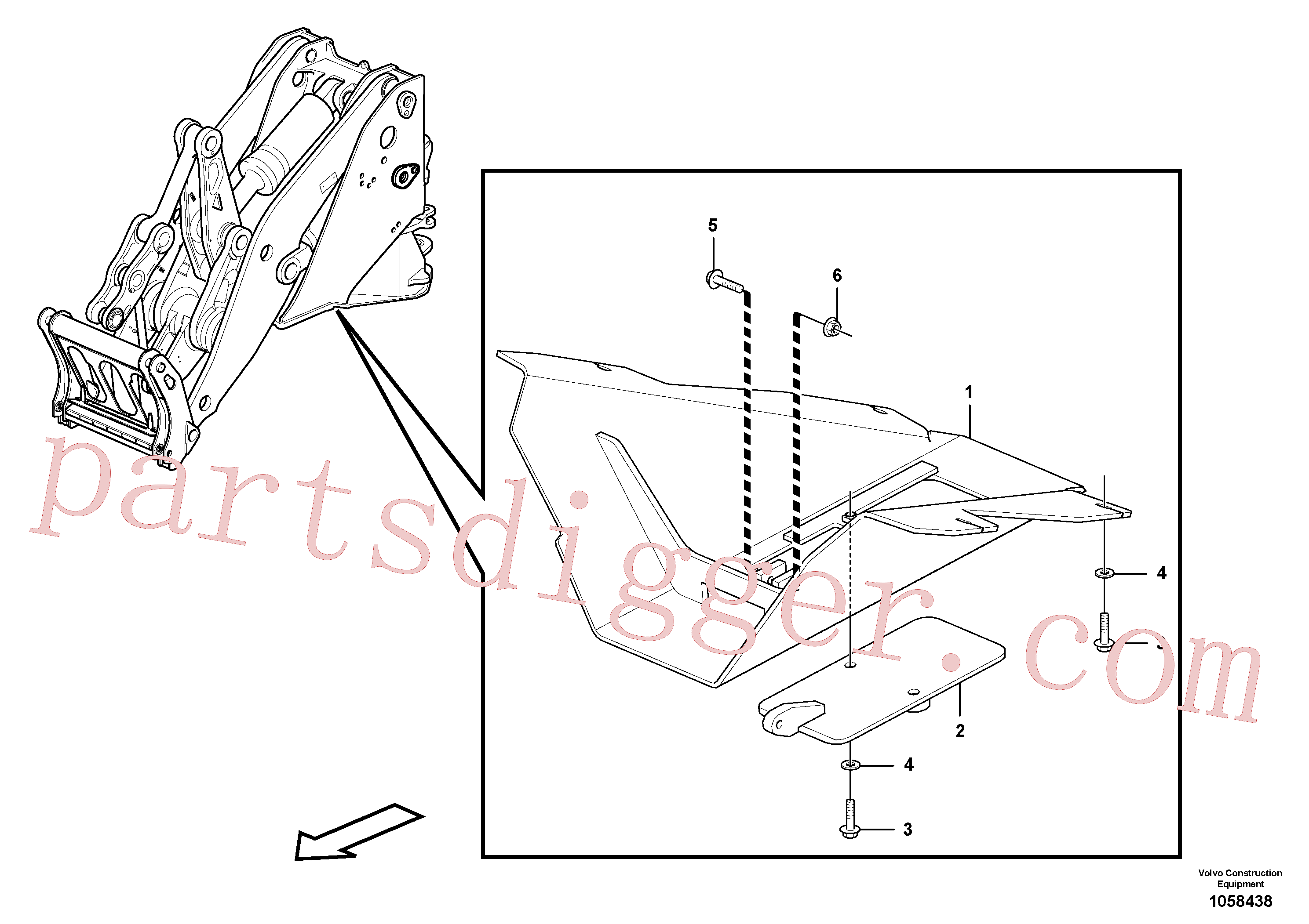 PJ4460042 for Volvo Belly guard, front.(1058438 assembly)