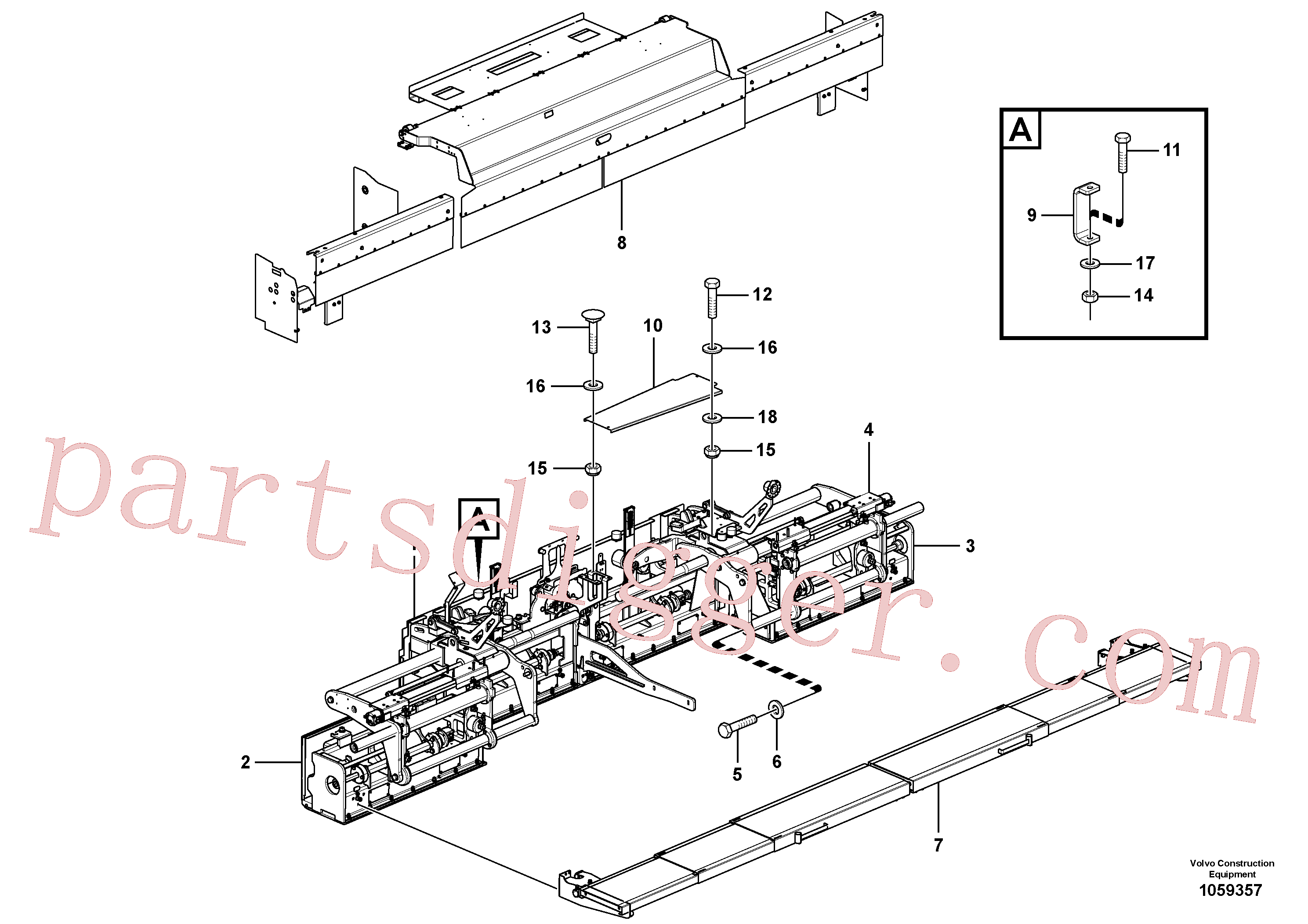 RM54504097 for Volvo Compilation of basic screeds per version and working width(1059357 assembly)