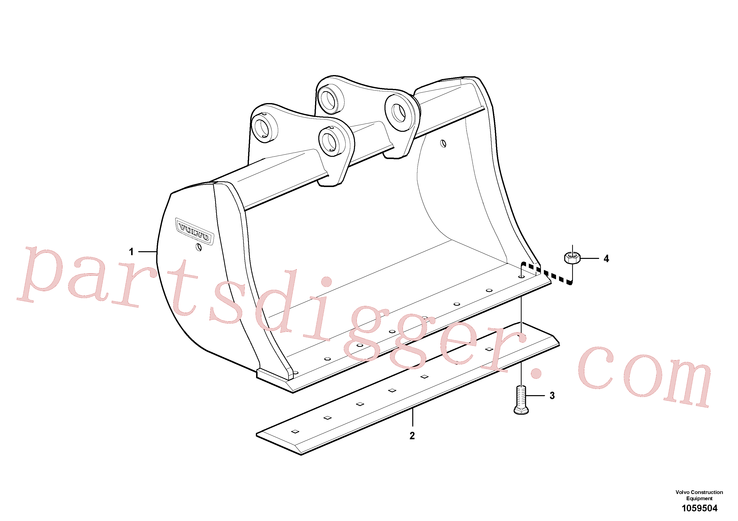 VOE14562920 for Volvo Bucket(1059504 assembly)