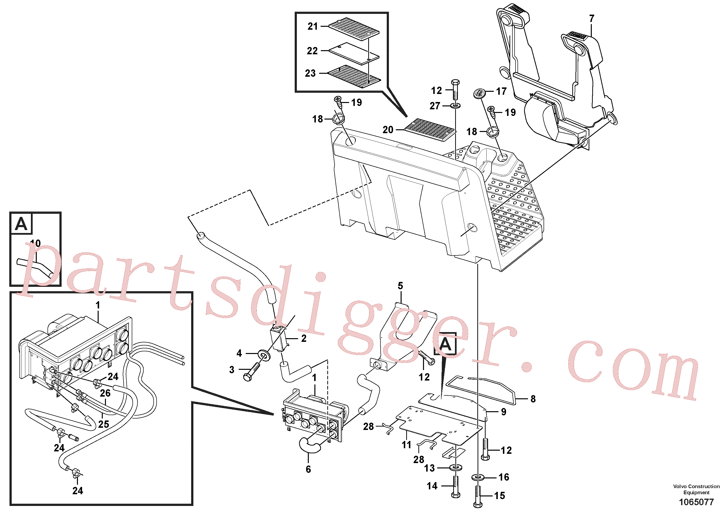RM95922324 for Volvo Heater Installation(1065077 assembly)