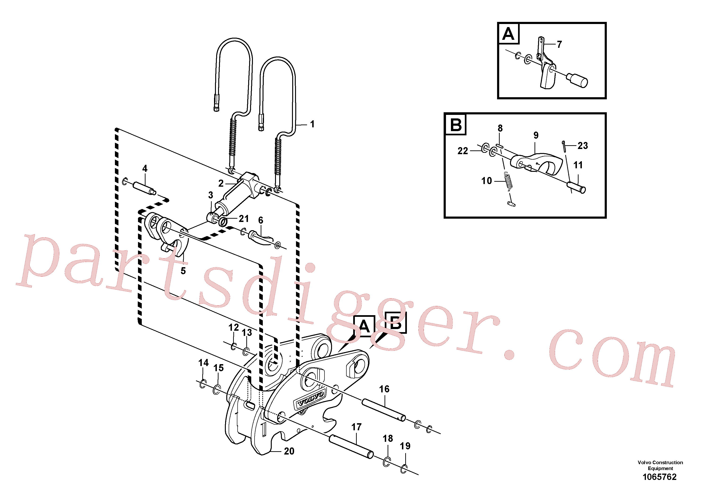 VOE914463 for Volvo Attachment bracket, quickfit(1065762 assembly)