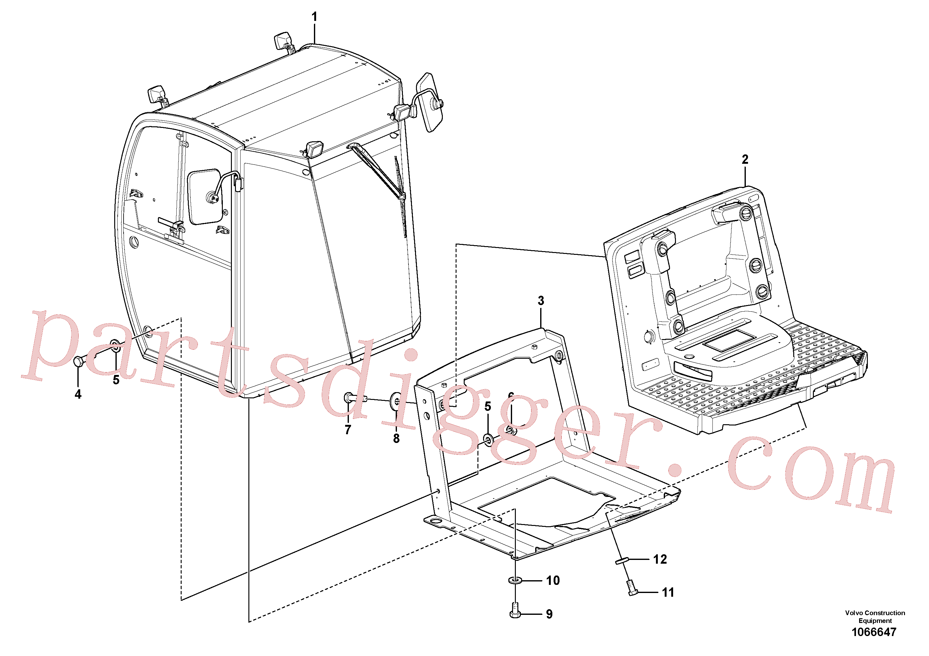 RM96704556 for Volvo Operator's Platform(1066647 assembly)
