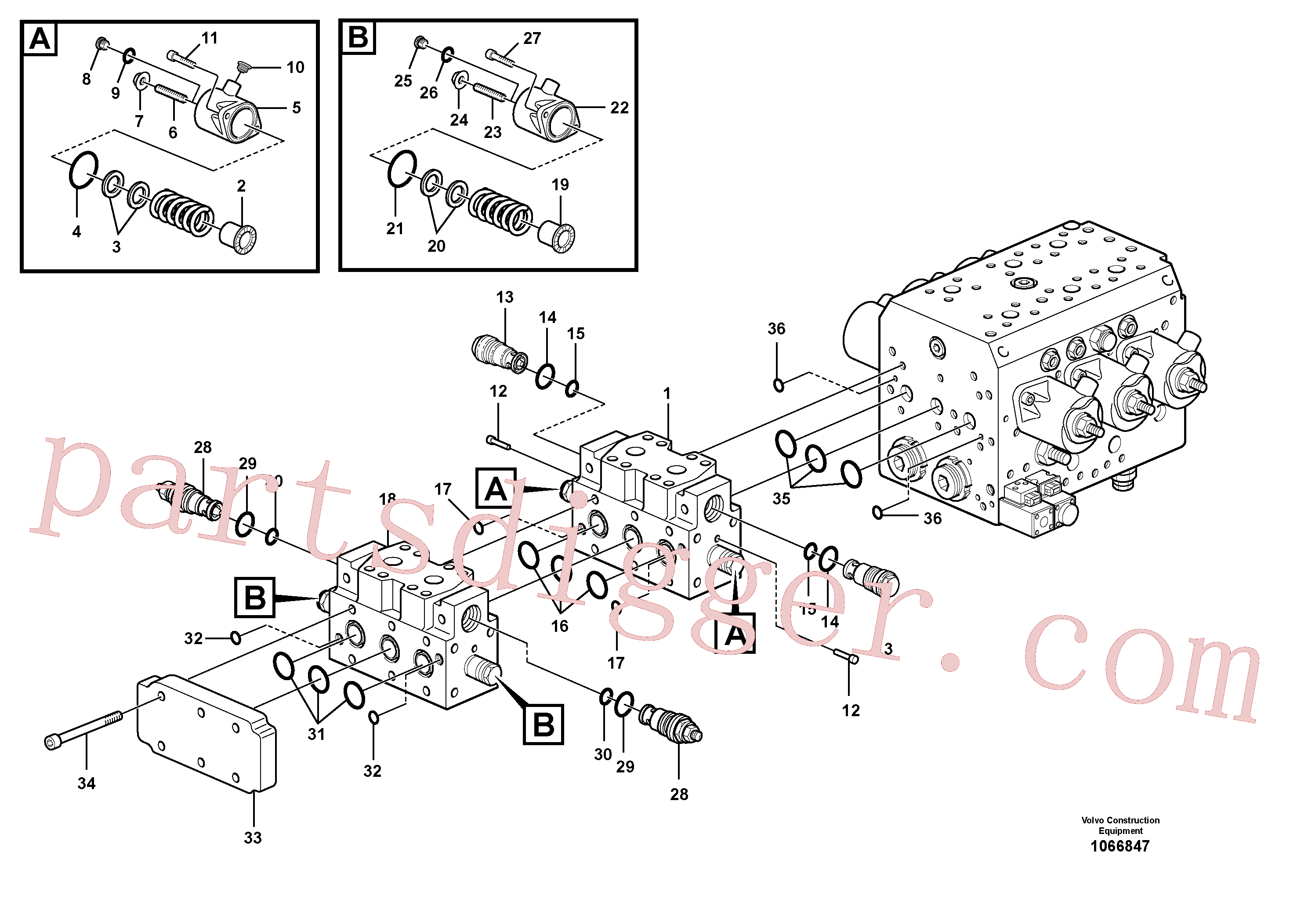 VOE11711037 for Volvo Hydraulic valve(1066847 assembly)