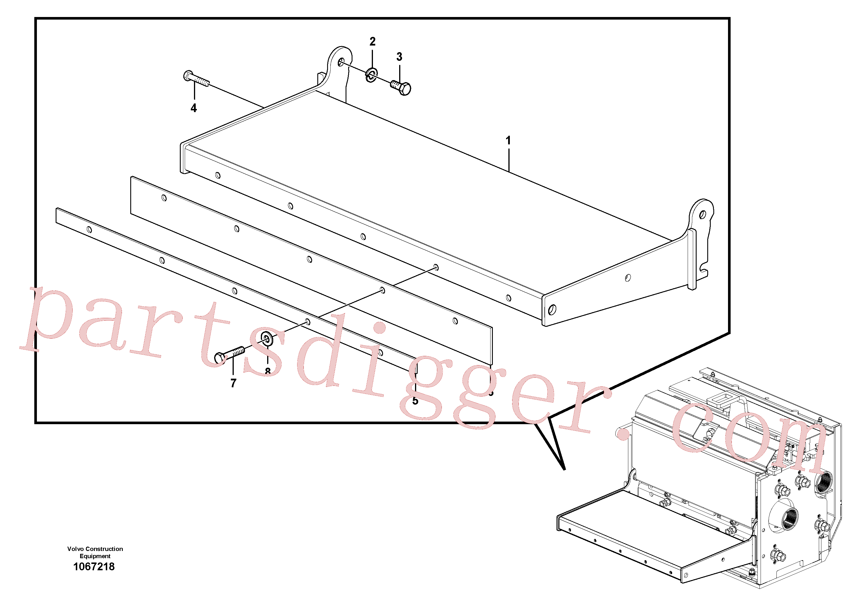 RM96715081 for Volvo Catwalk(1067218 assembly)