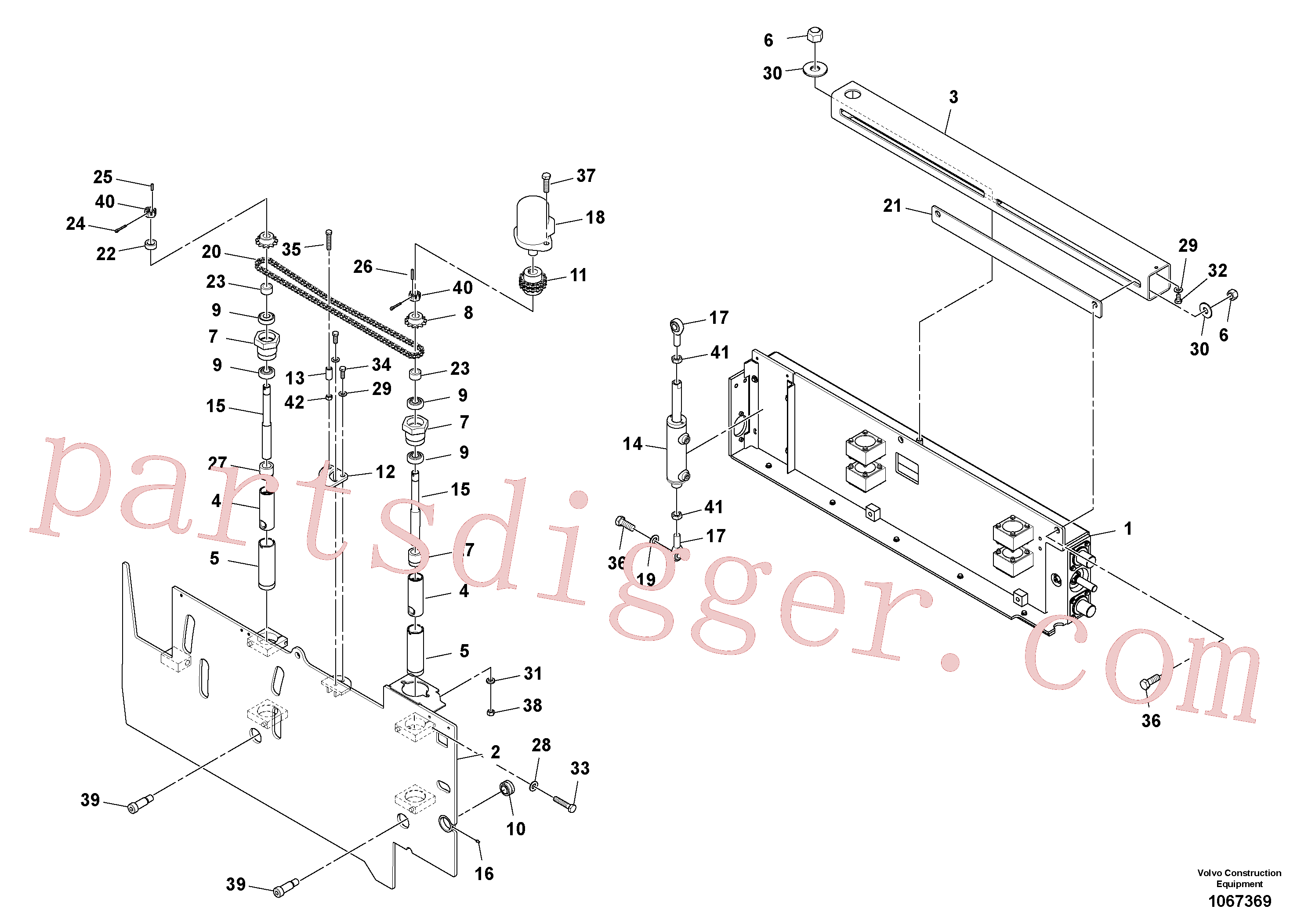 RM20300687 for Volvo Extension Assembly(1067369 assembly)
