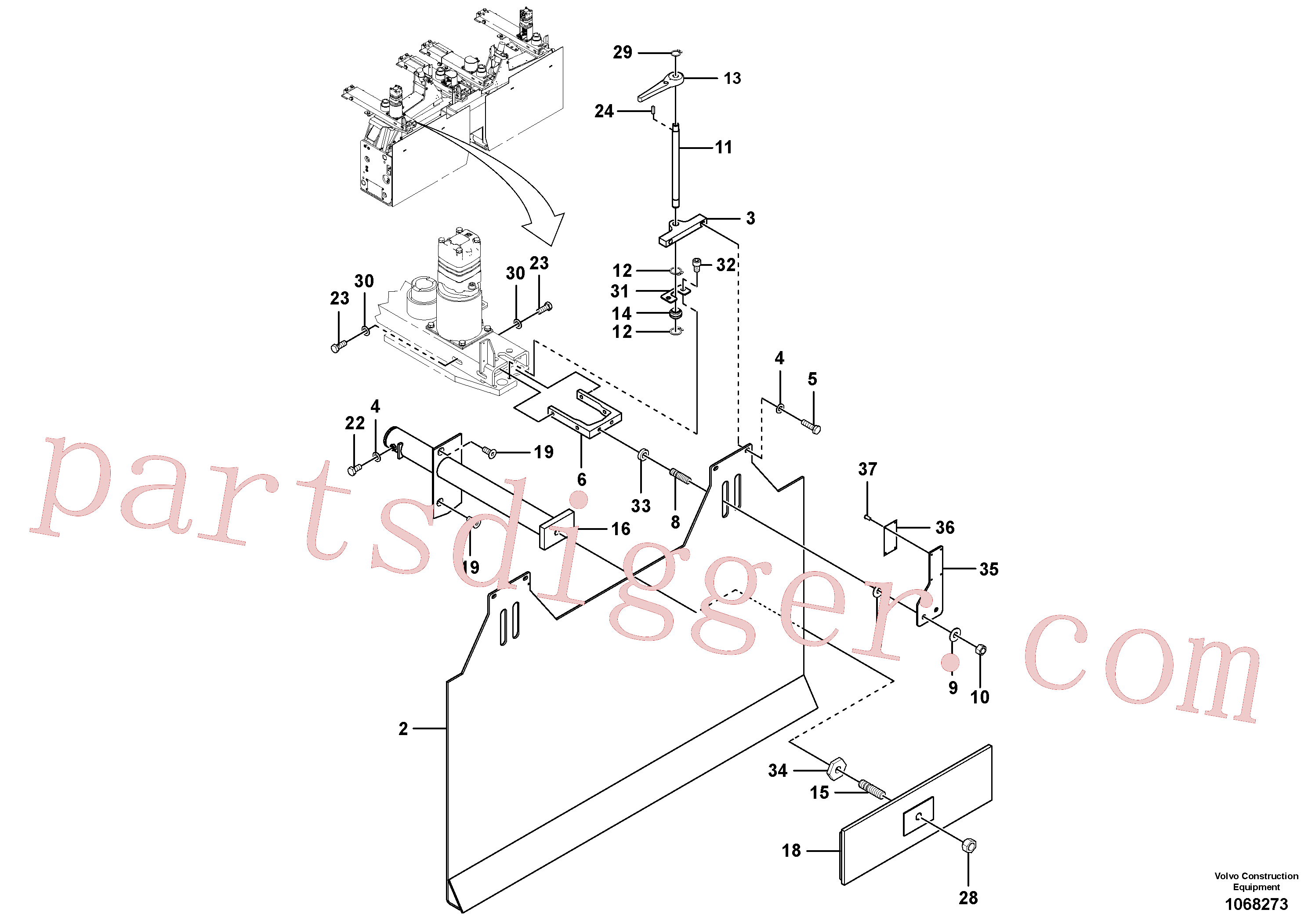 RM96711189 for Volvo Extension Pre-strike Off Installation(1068273 assembly)