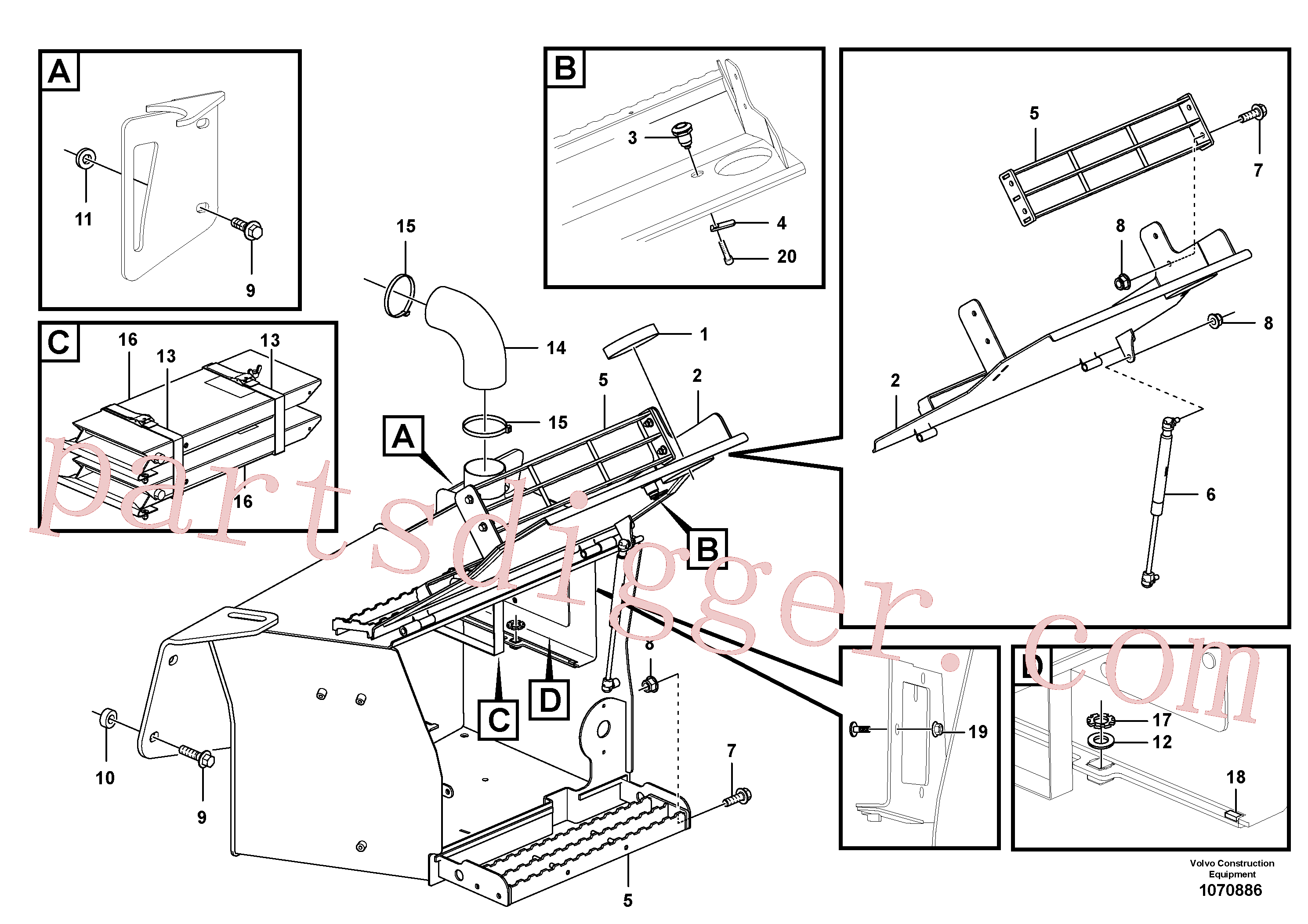 VOE15159306 for Volvo Toolbox(1070886 assembly)