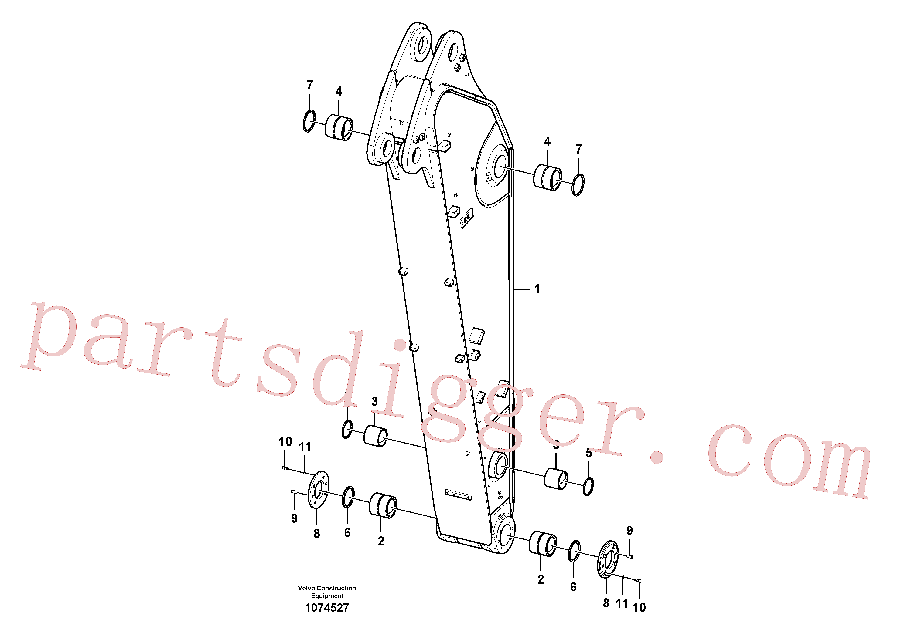 VOE14547981 for Volvo Dipper arm(1074527 assembly)