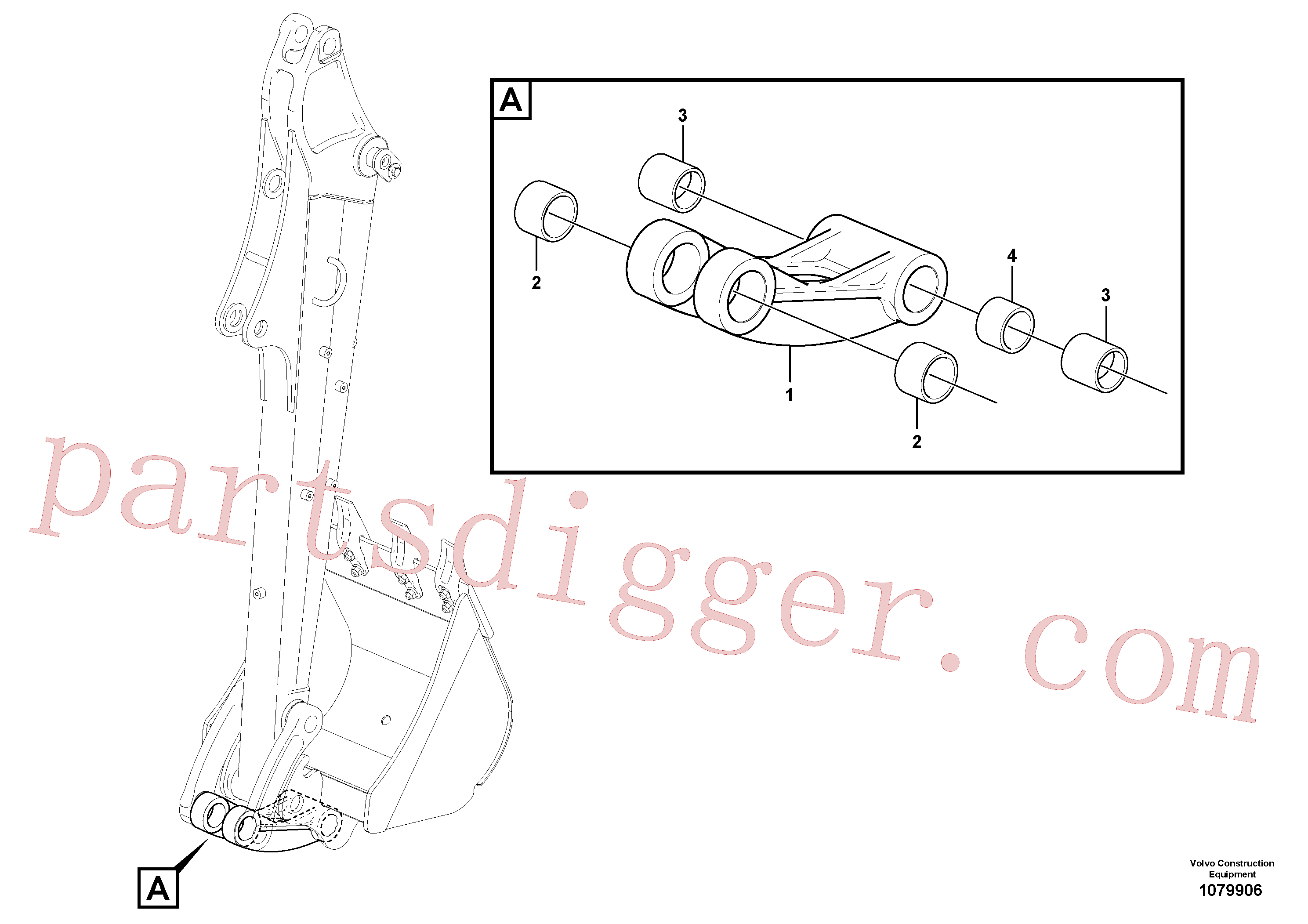 PJ5460389 for Volvo Links to connecting rod(1079906 assembly)