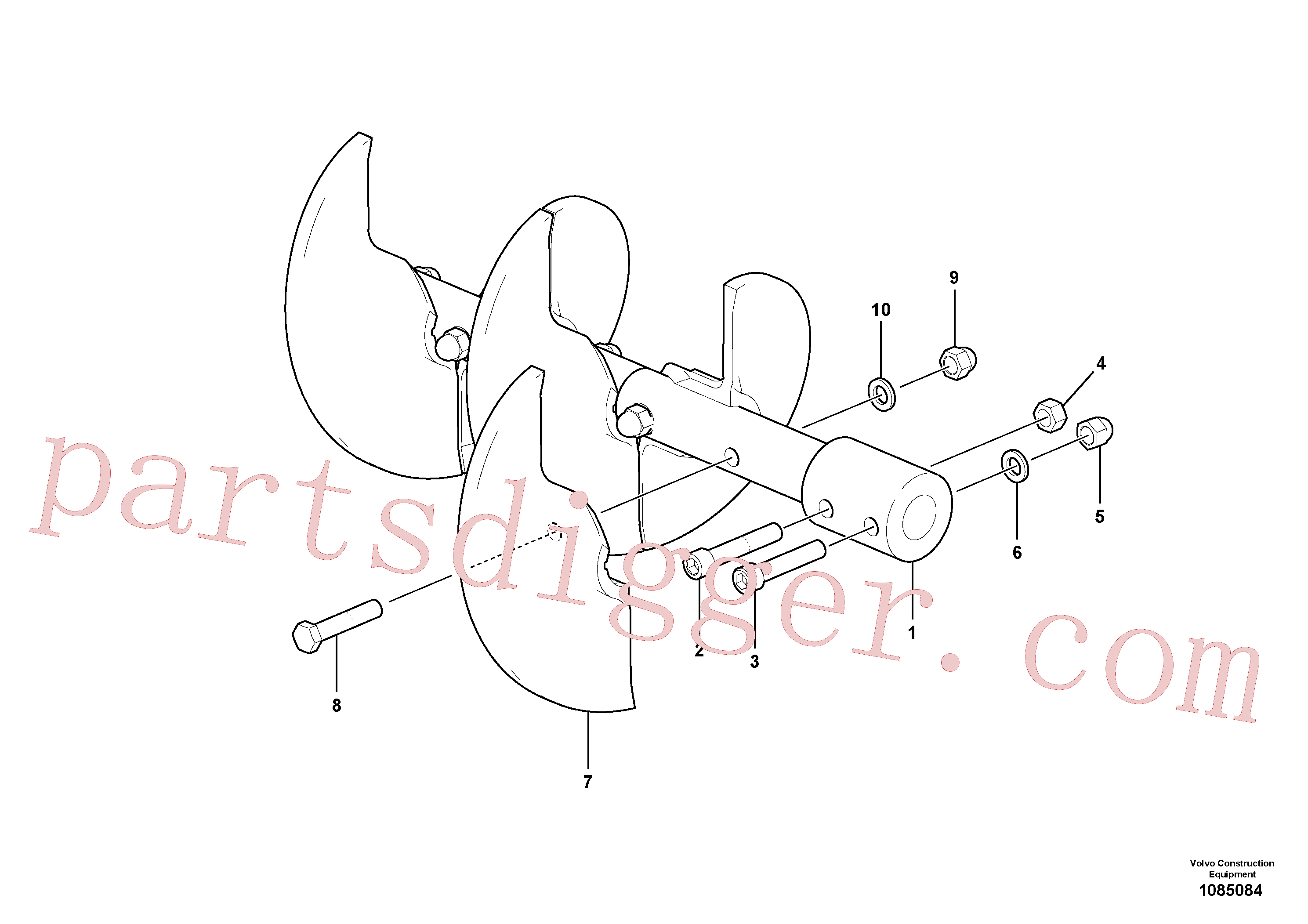 RM13939657 for Volvo Auger shaft(1085084 assembly)
