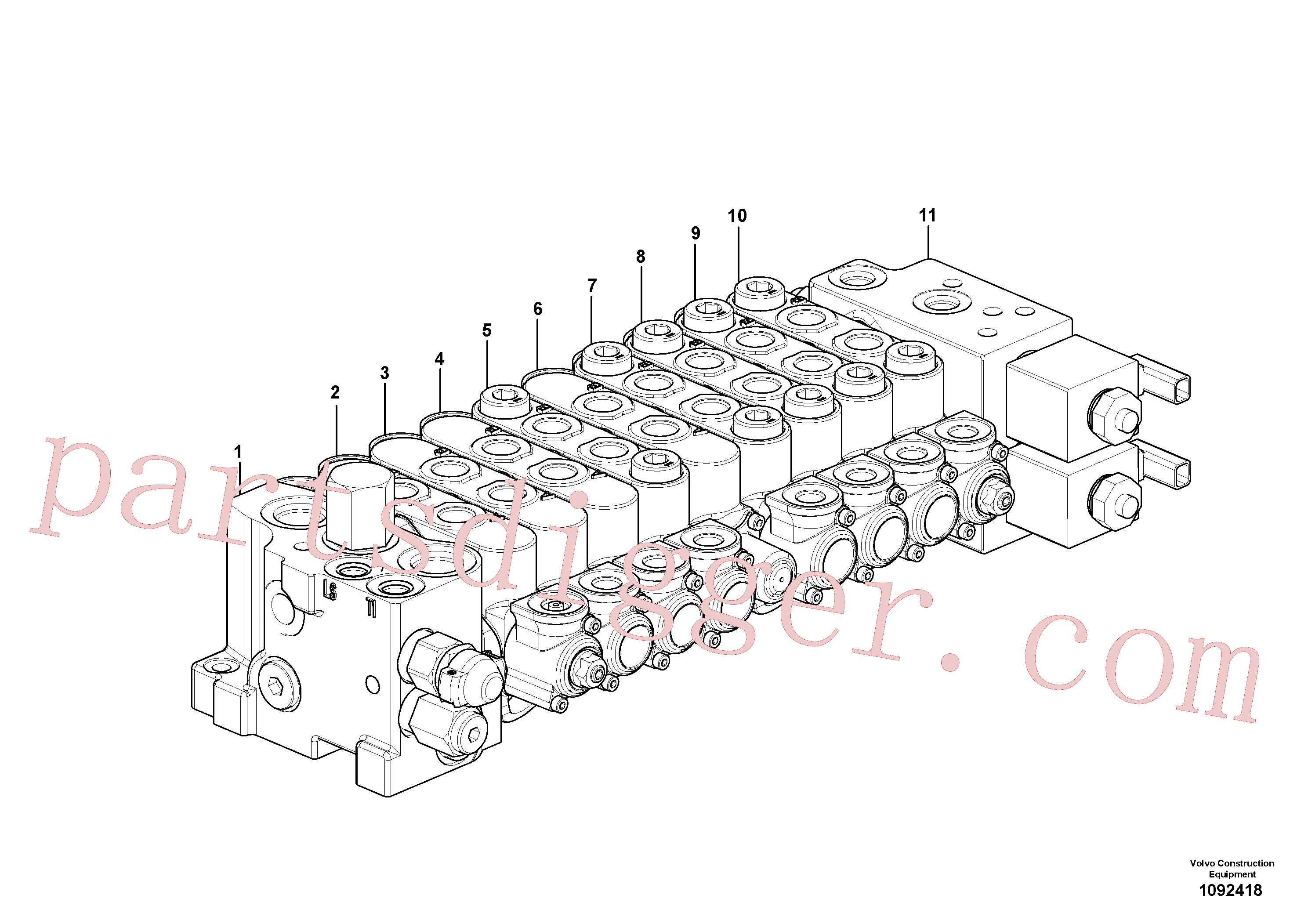 VOE15182880 for Volvo Control valve(1092418 assembly)