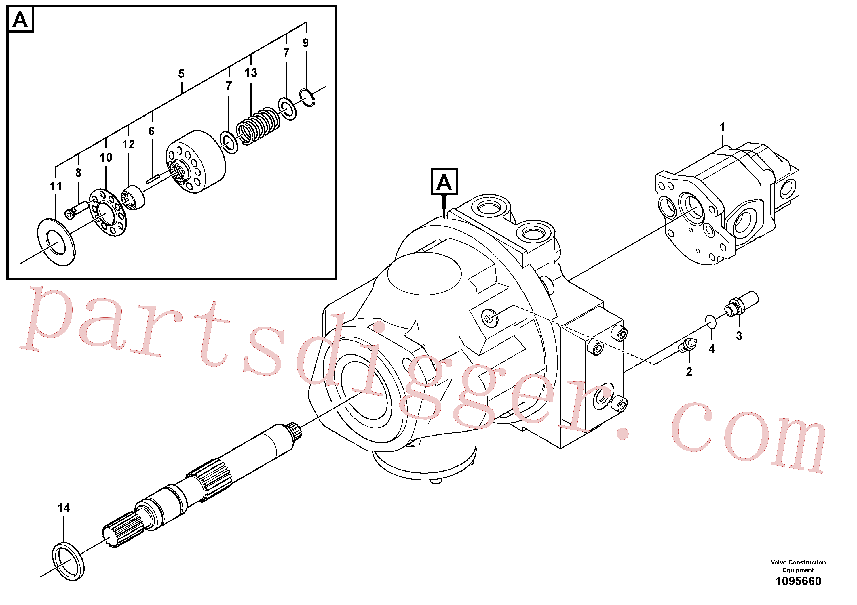 SA8230-03010 for Volvo Hydraulic pump(1095660 assembly)