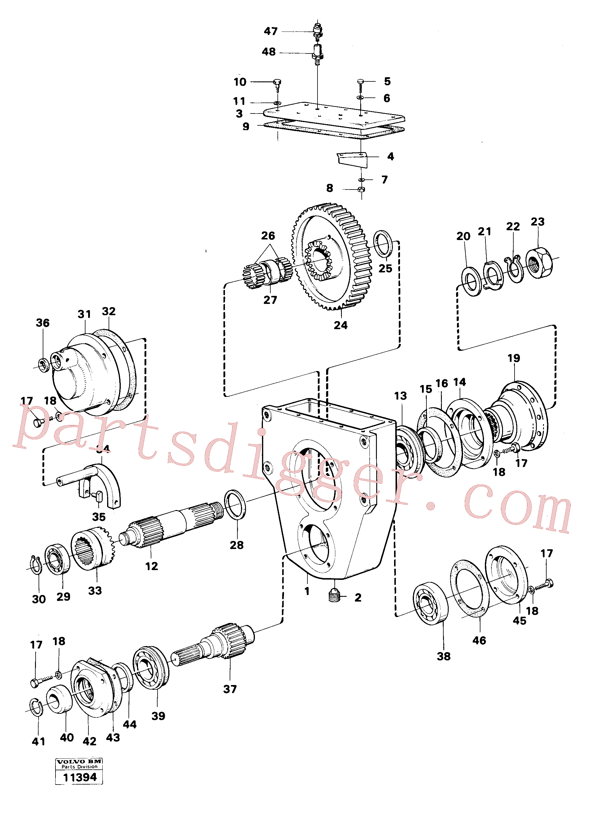 VOE382779 for Volvo Reduction gear, Reduction gear 6x6(11394 assembly)