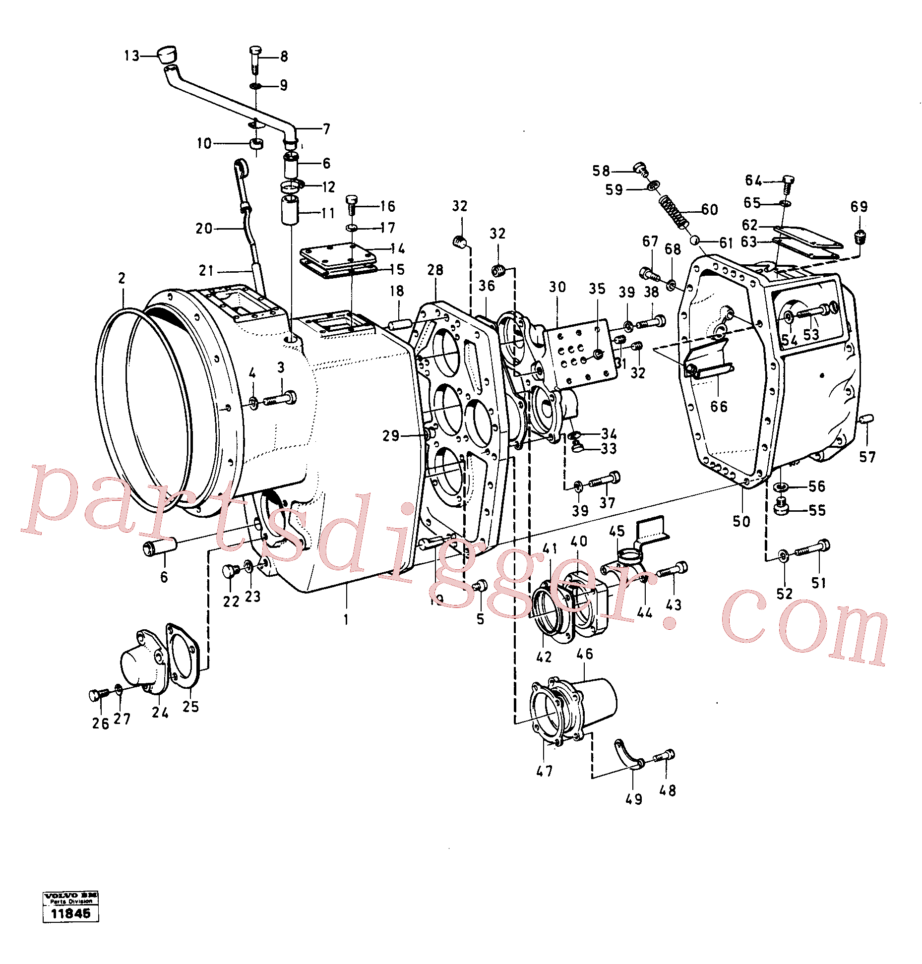 VOE14023978 for Volvo Housing,covers and boltings(11845 assembly)
