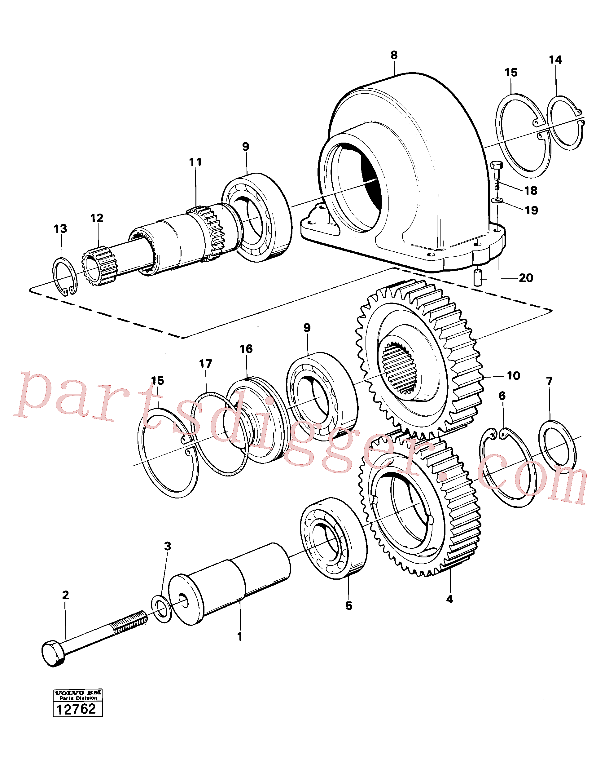 SA9541-02050 for Volvo Charging oil-pump drive prod no 30804(12762 assembly)