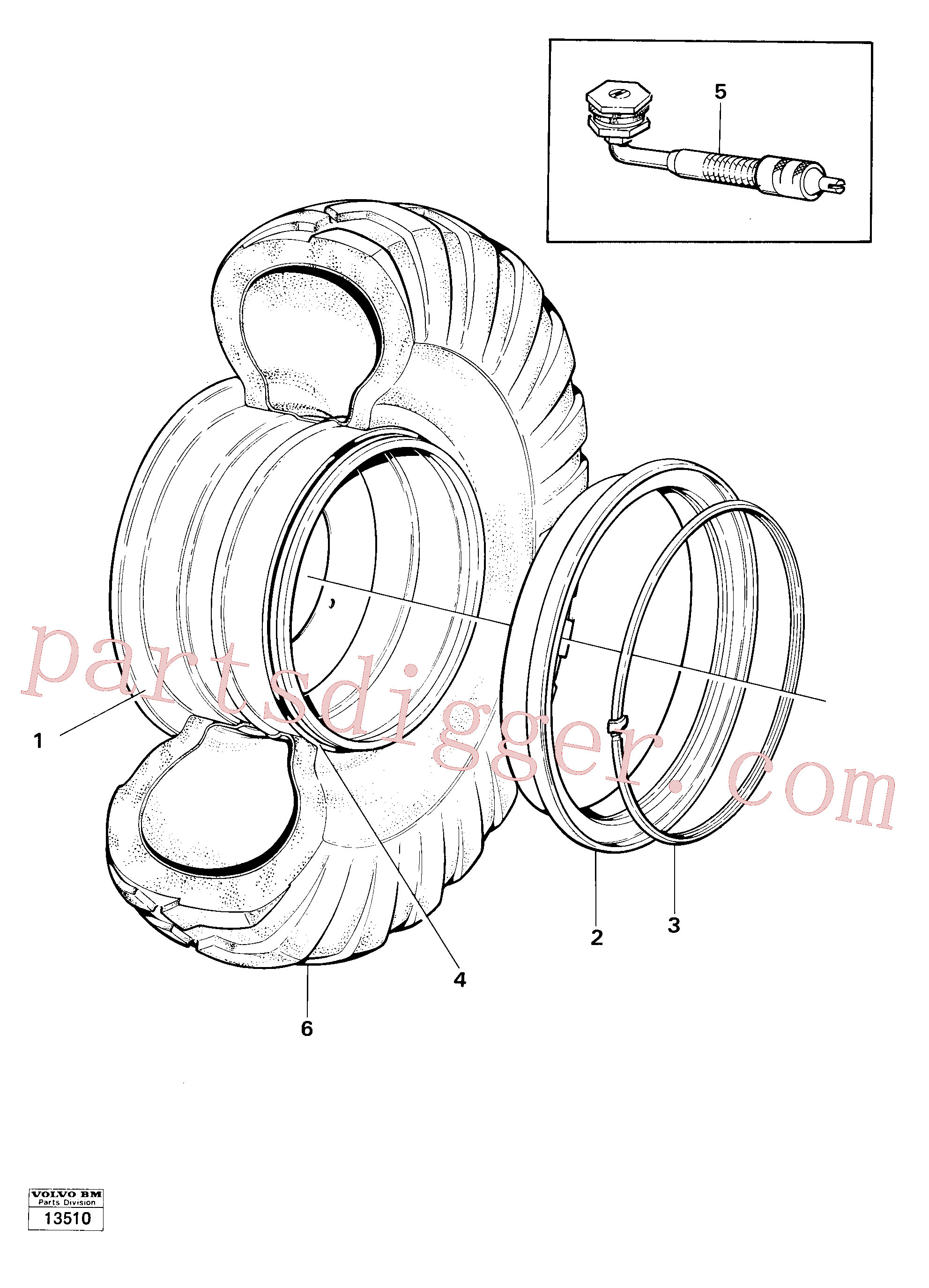 VOE17236398 for Volvo Wheel, Wheels(13510 assembly)