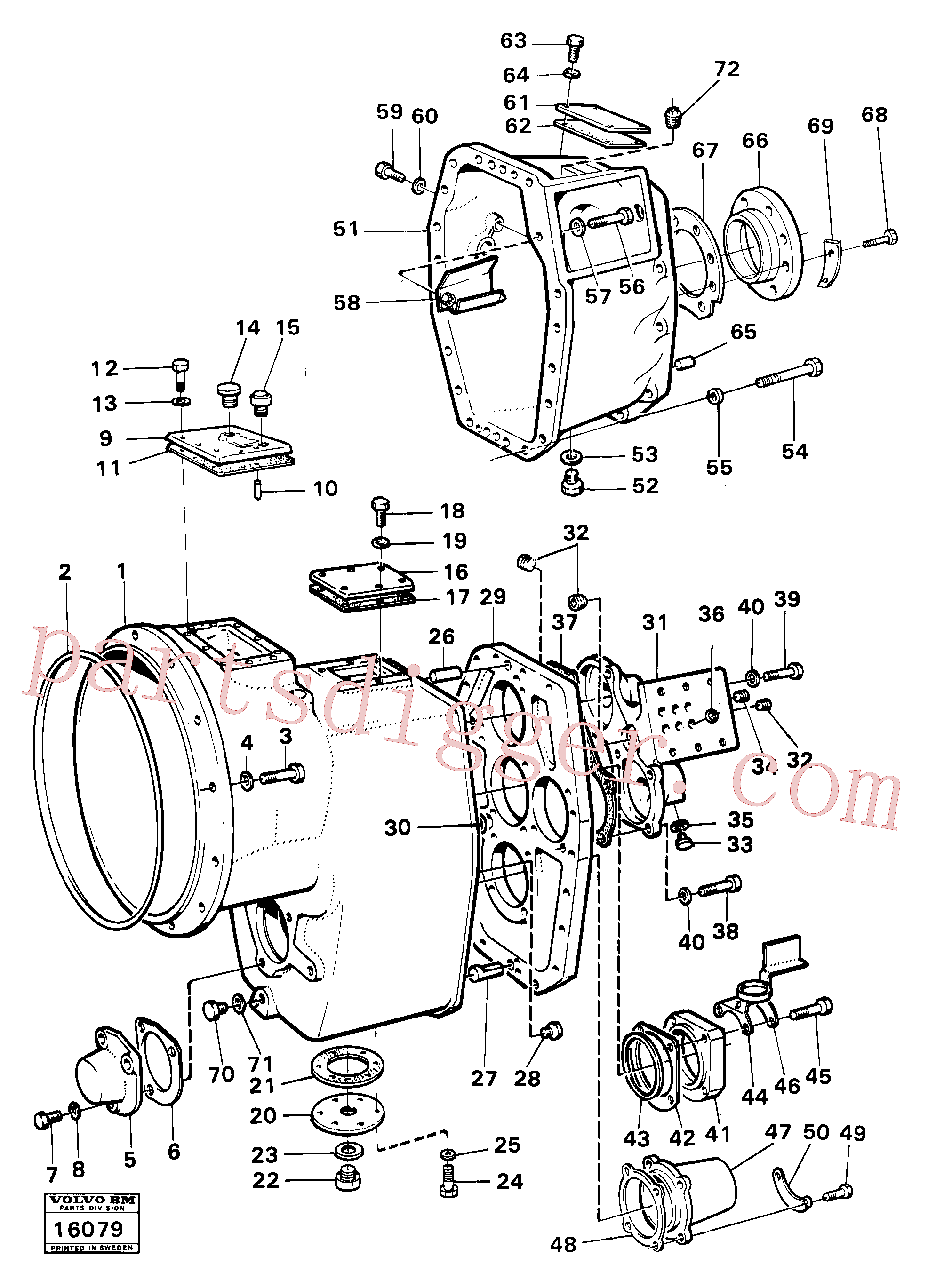 VOE940114 for Volvo Housing,covers and boltings(16079 assembly)