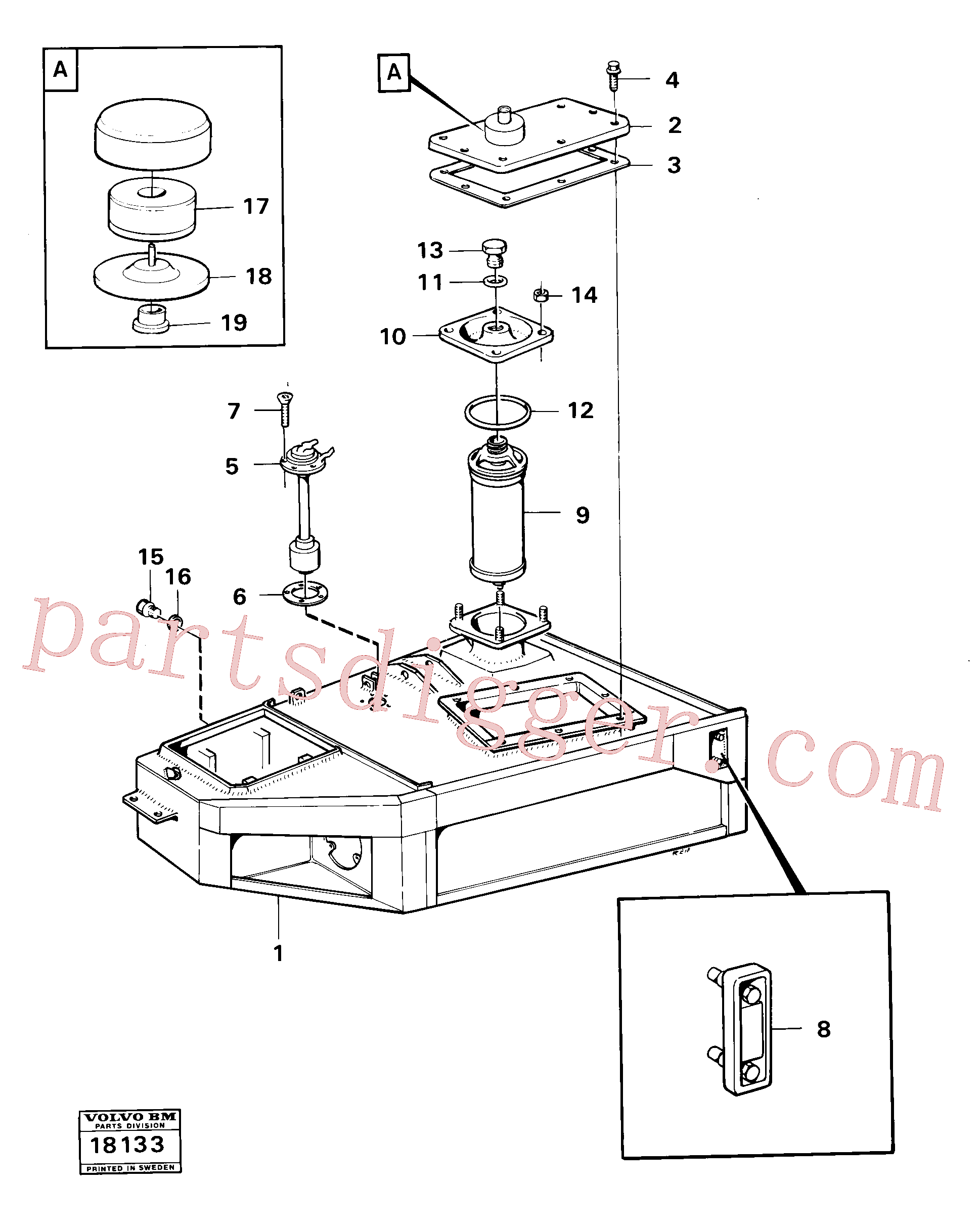 VOE941375 for Volvo Hydraulic tank(18133 assembly)