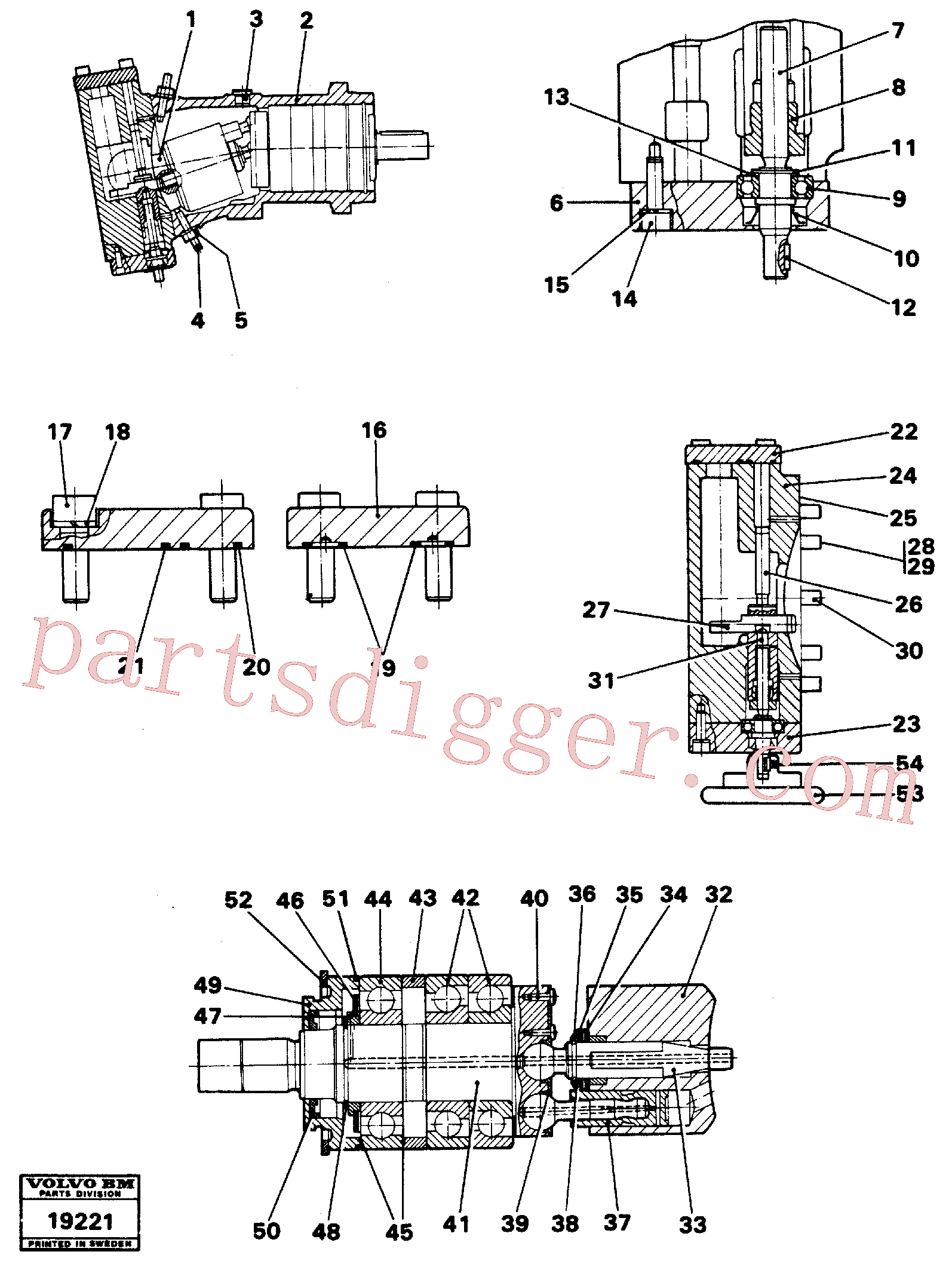 VOE914474 for Volvo Hydraulic pump(19221 assembly)