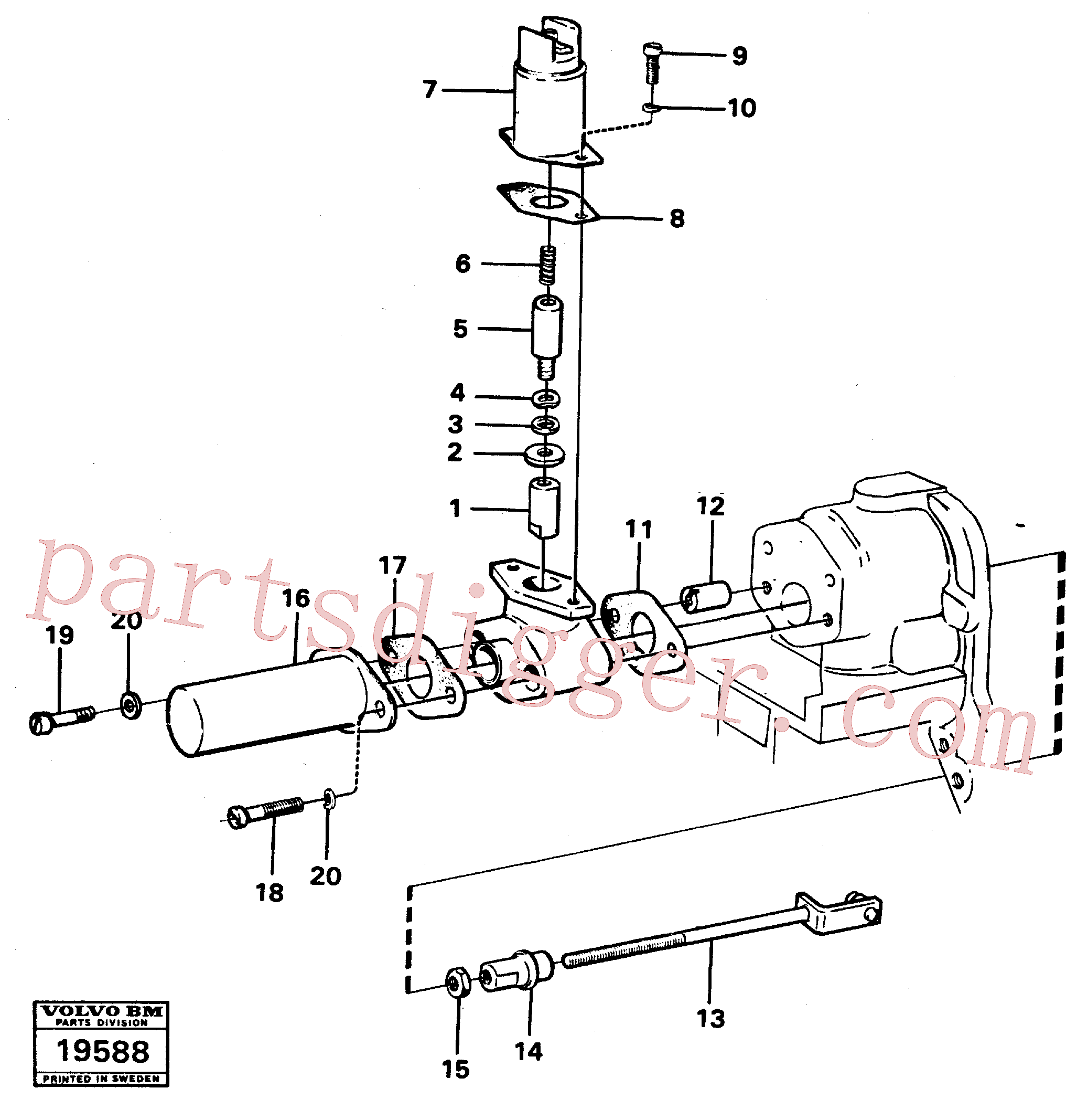 VOE941905 for Volvo Cold-starting device(19588 assembly)