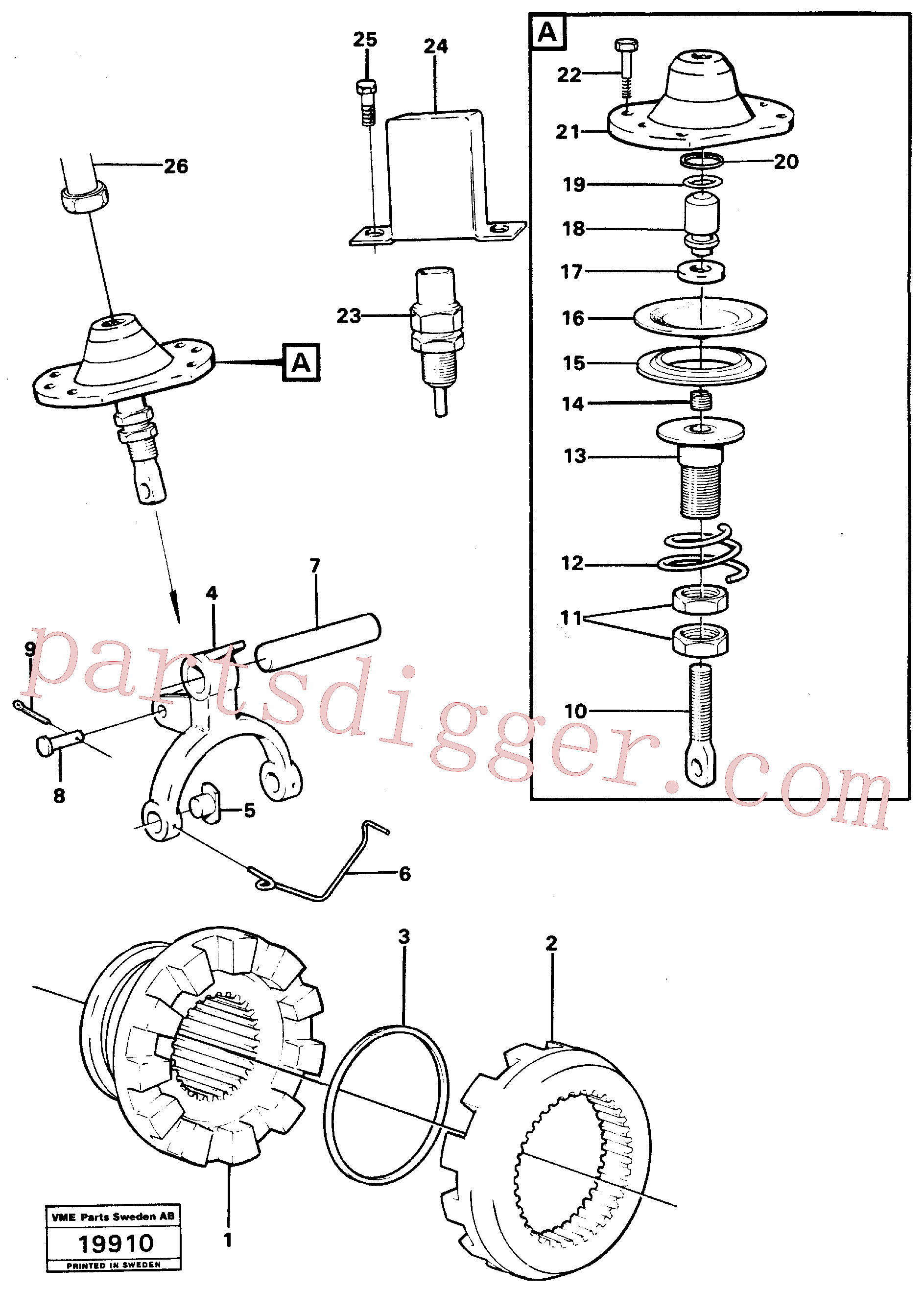 VOE4870121 for Volvo Differential lock(19910 assembly)
