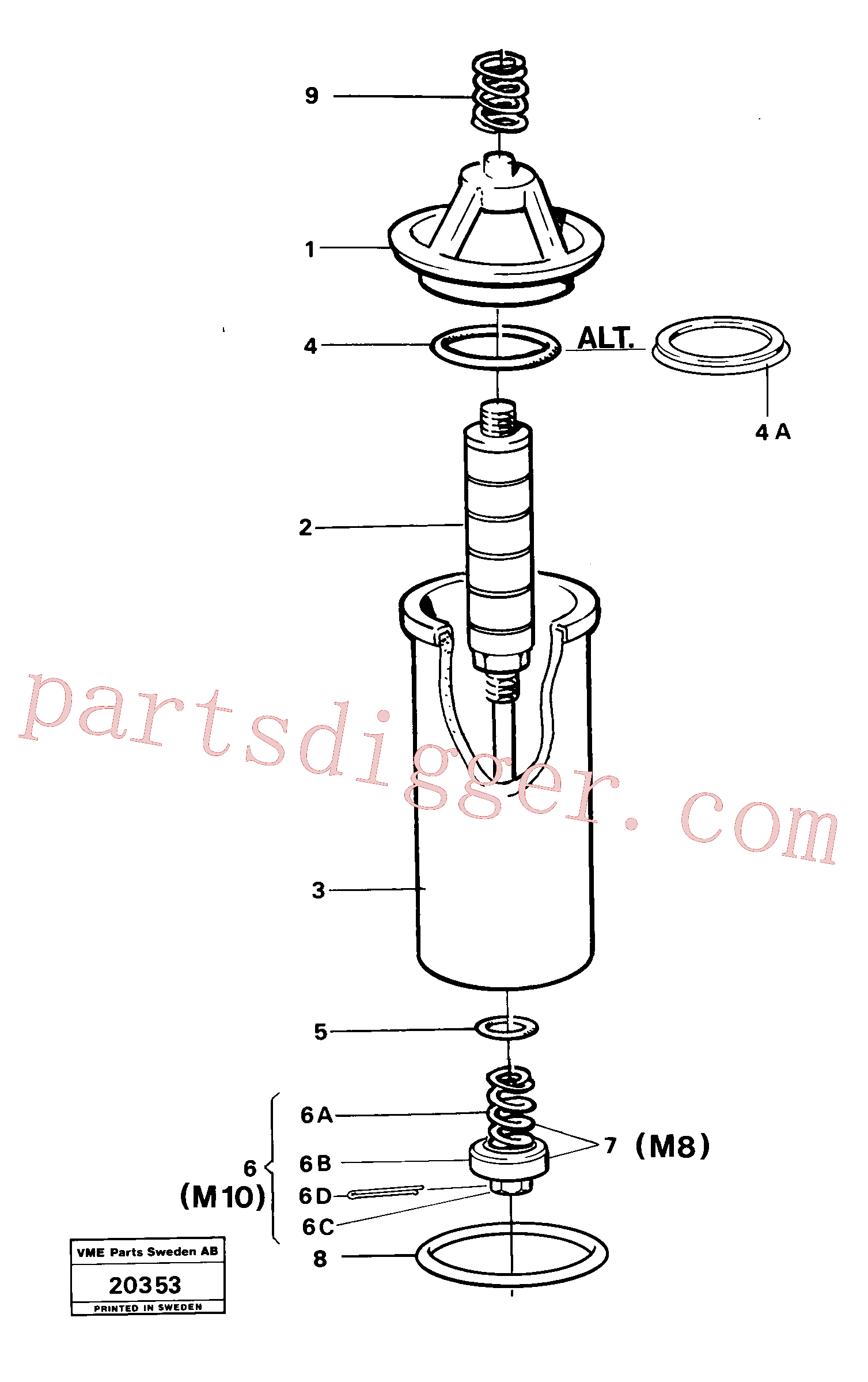 RM96724968 for Volvo Oil filter(20353 assembly)
