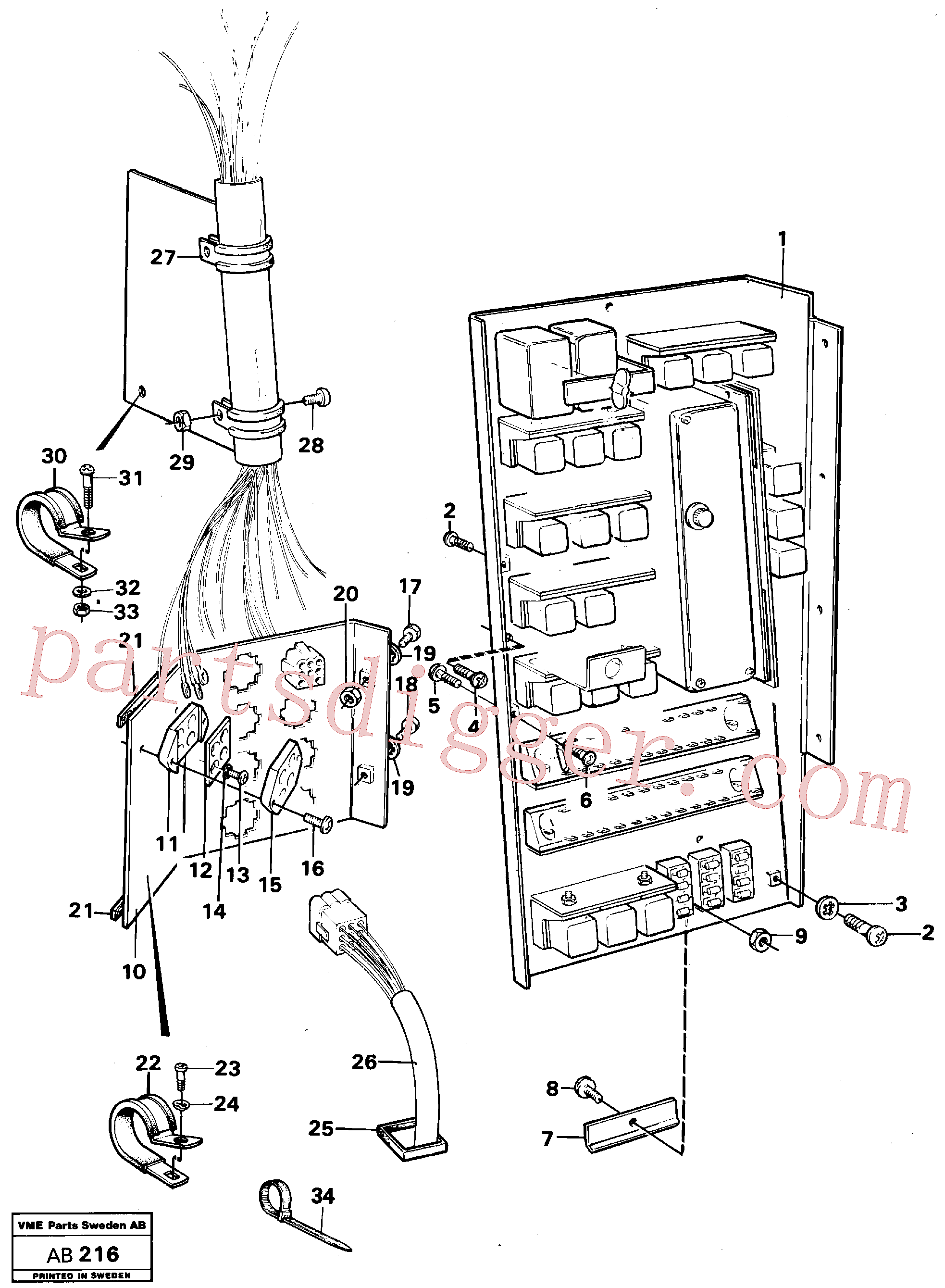 VOE956092 for Volvo Distribution box with fitting parts(AB216 assembly)