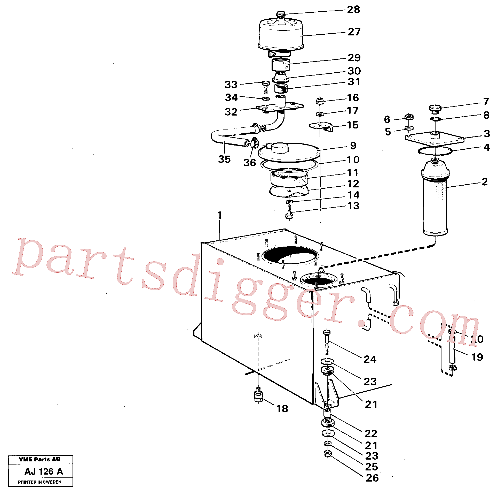 VOE970978 for Volvo Hydraulic tank(AJ126A assembly)