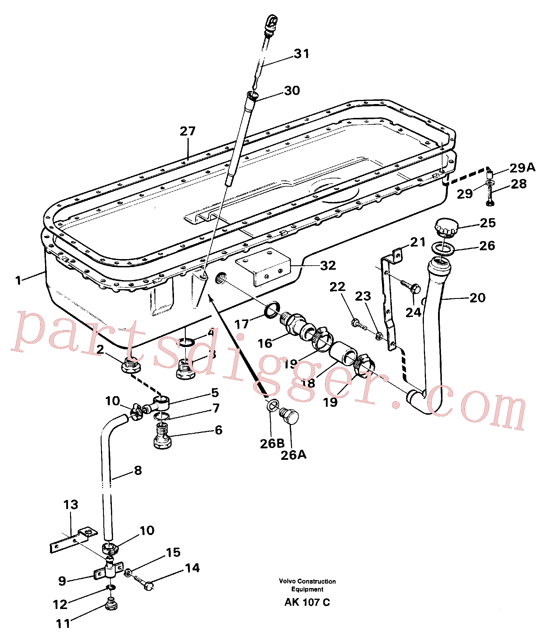 VOE14012285 for Volvo Oil sump(AK107C assembly)