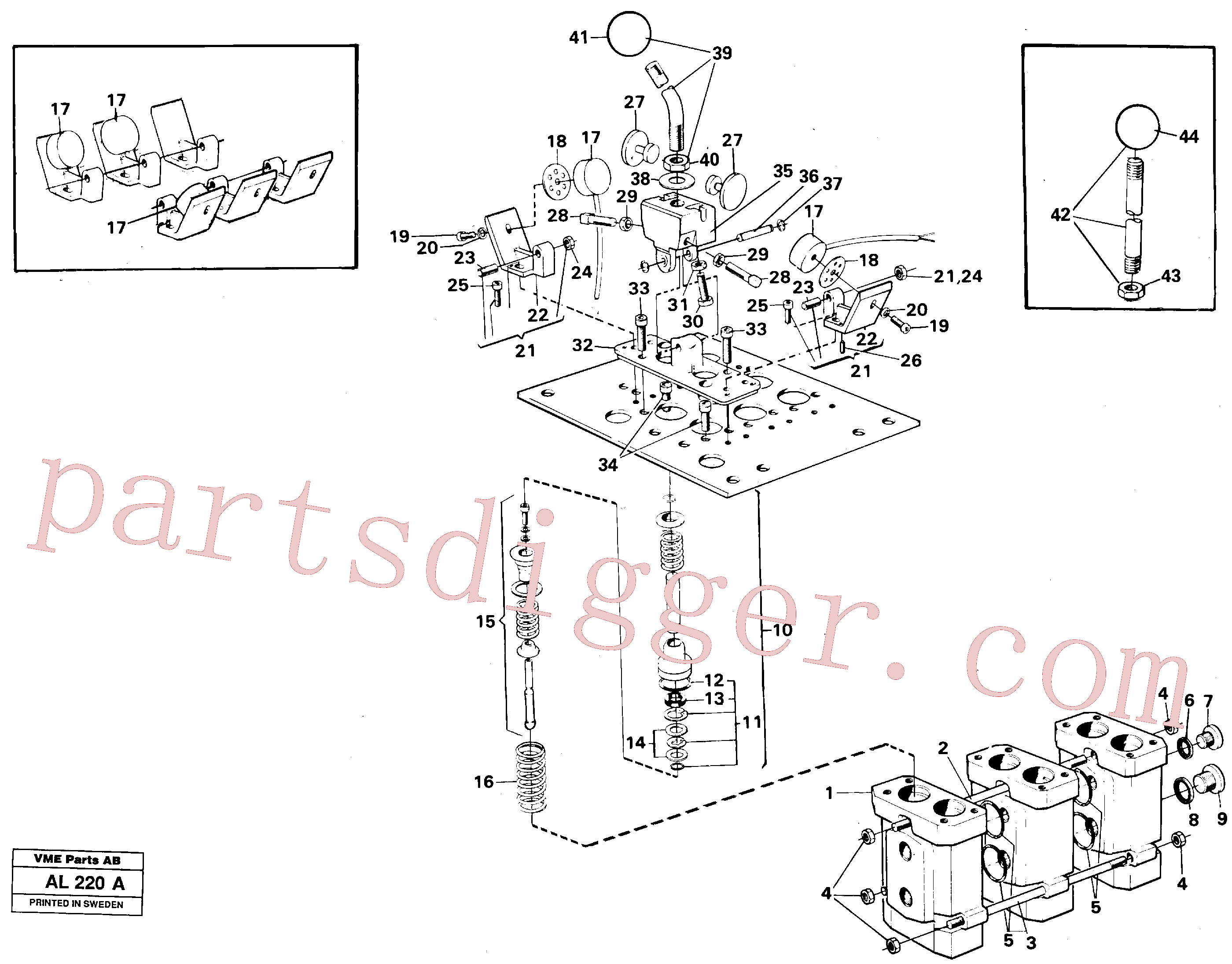 VOE11991048 for Volvo Servo valve(AL220A assembly)