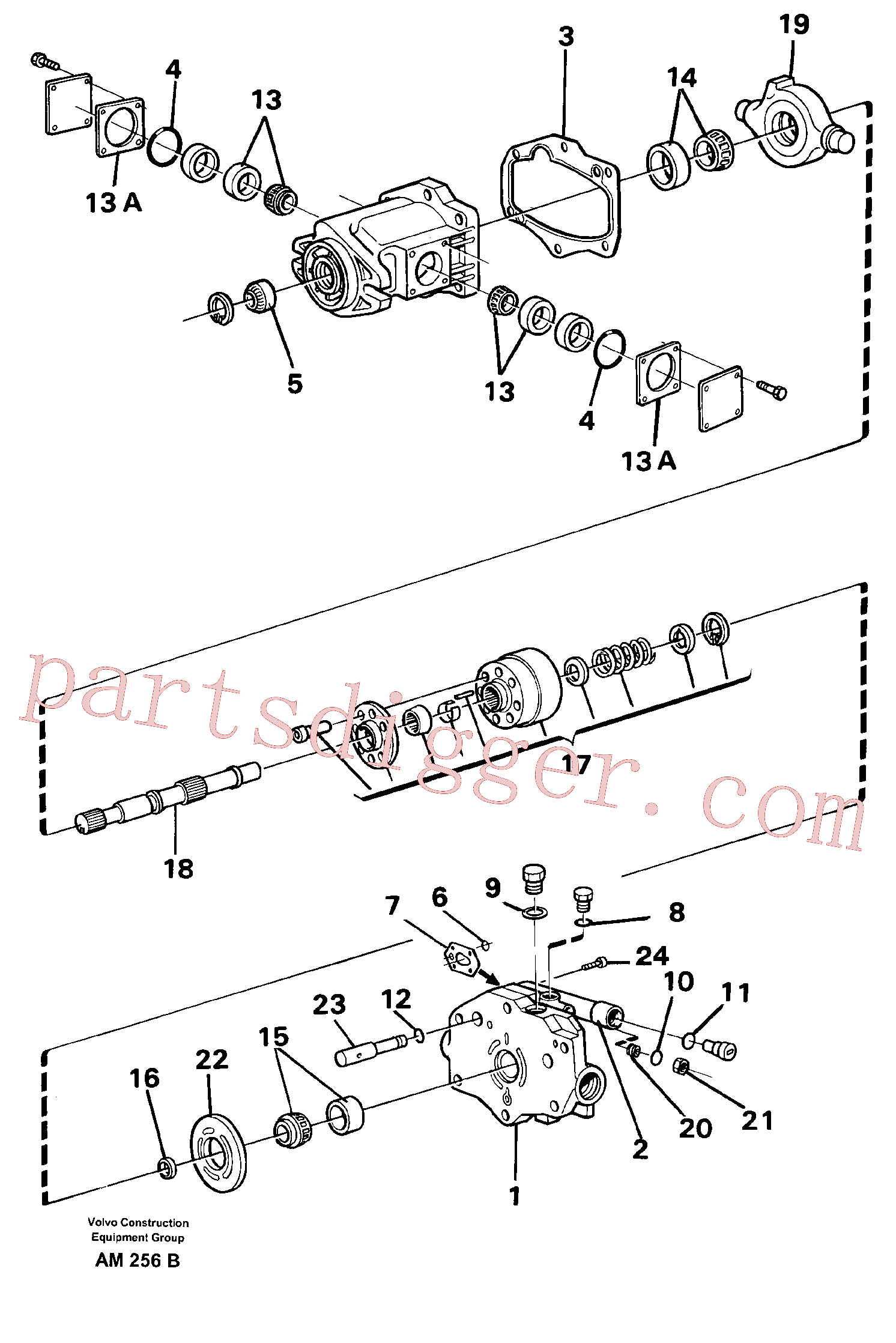 VOE11992194 for Volvo Hydraulic pump(AM256B assembly)