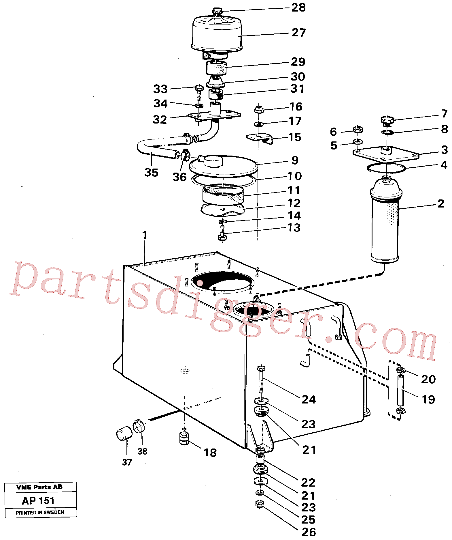 VOE970978 for Volvo Hydraulic tank(AP151 assembly)