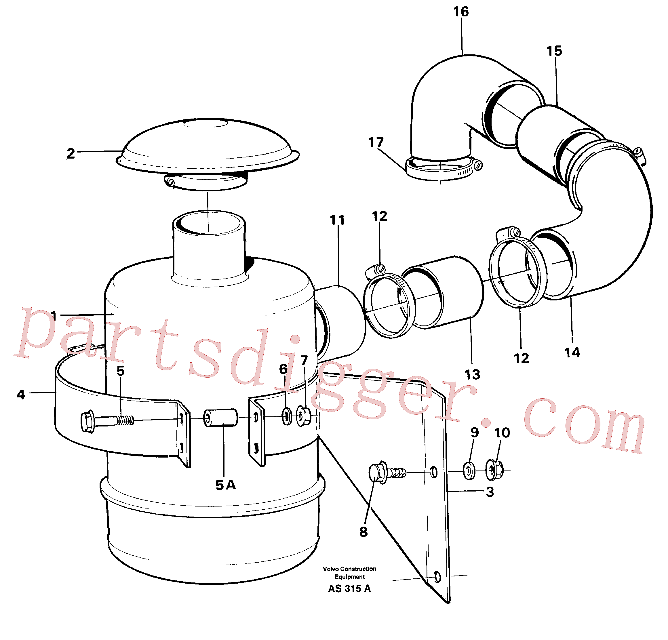VOE961677 for Volvo Oil bath filter(AS315A assembly)