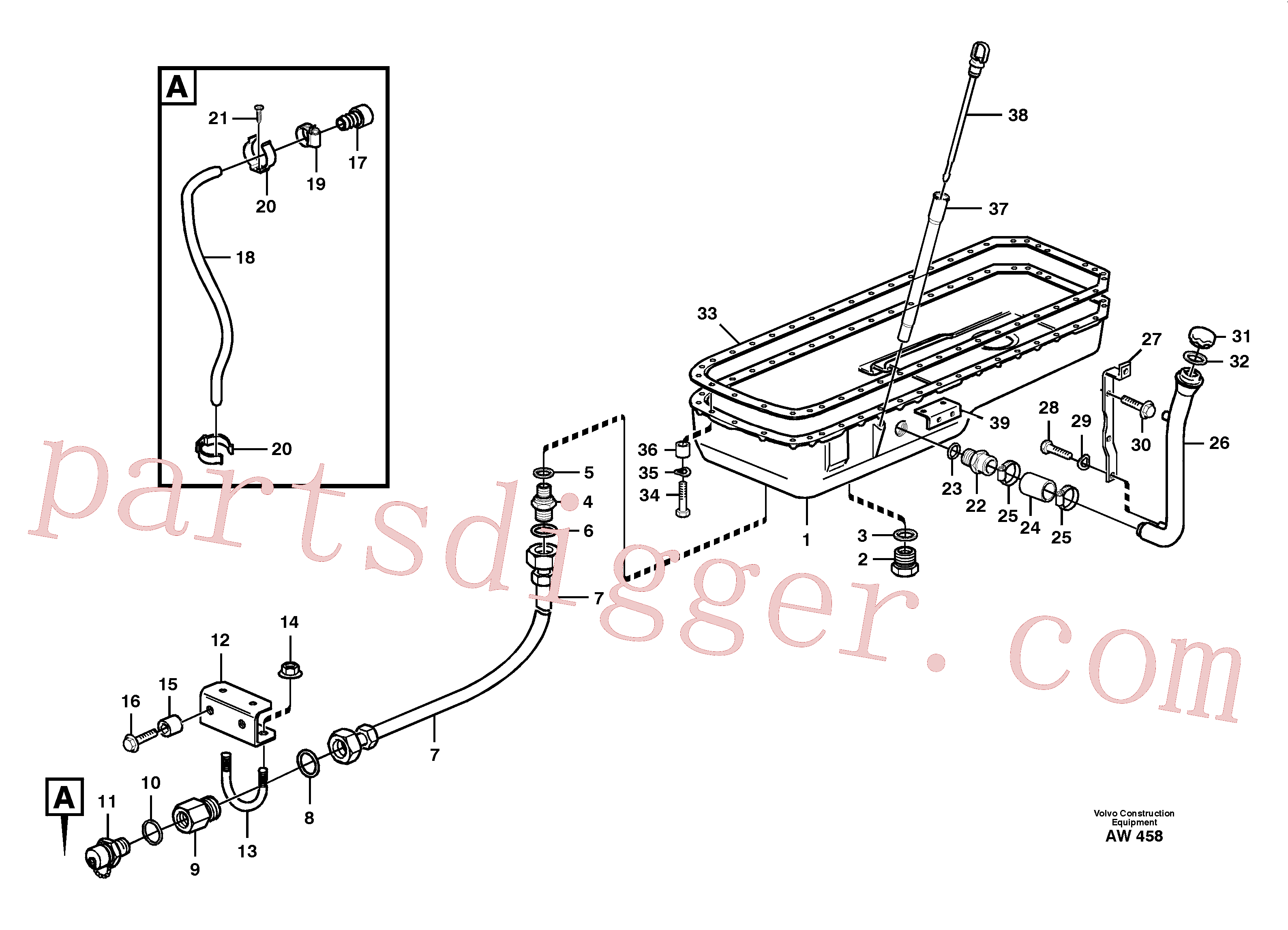 VOE14012285 for Volvo Oil sump(AW458 assembly)